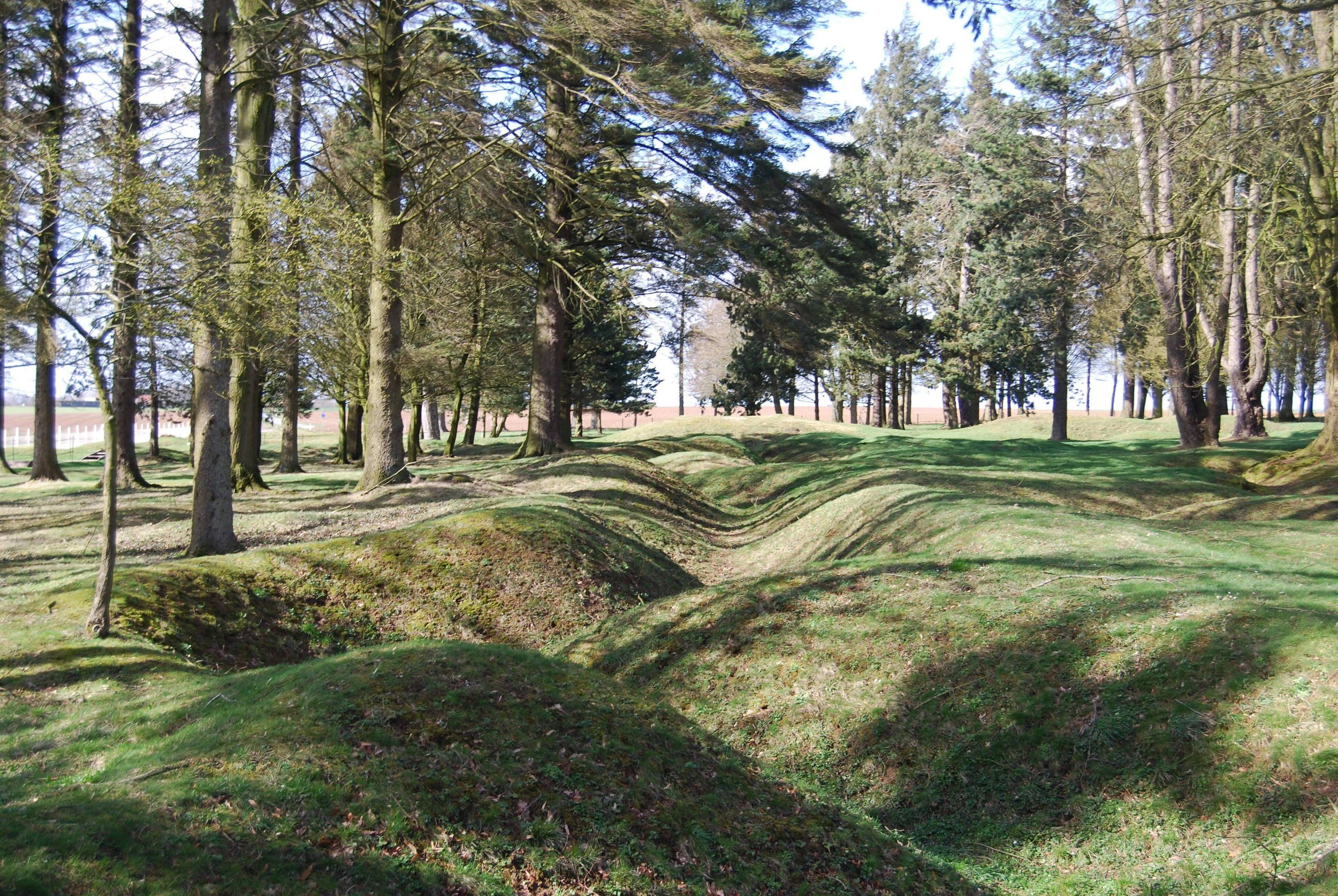 You can see the remnants of the trench system at the Newfoundland Memorial. It is one of the only places in the area with the original trenches as most of the fields were returned to agricultural use after the war.