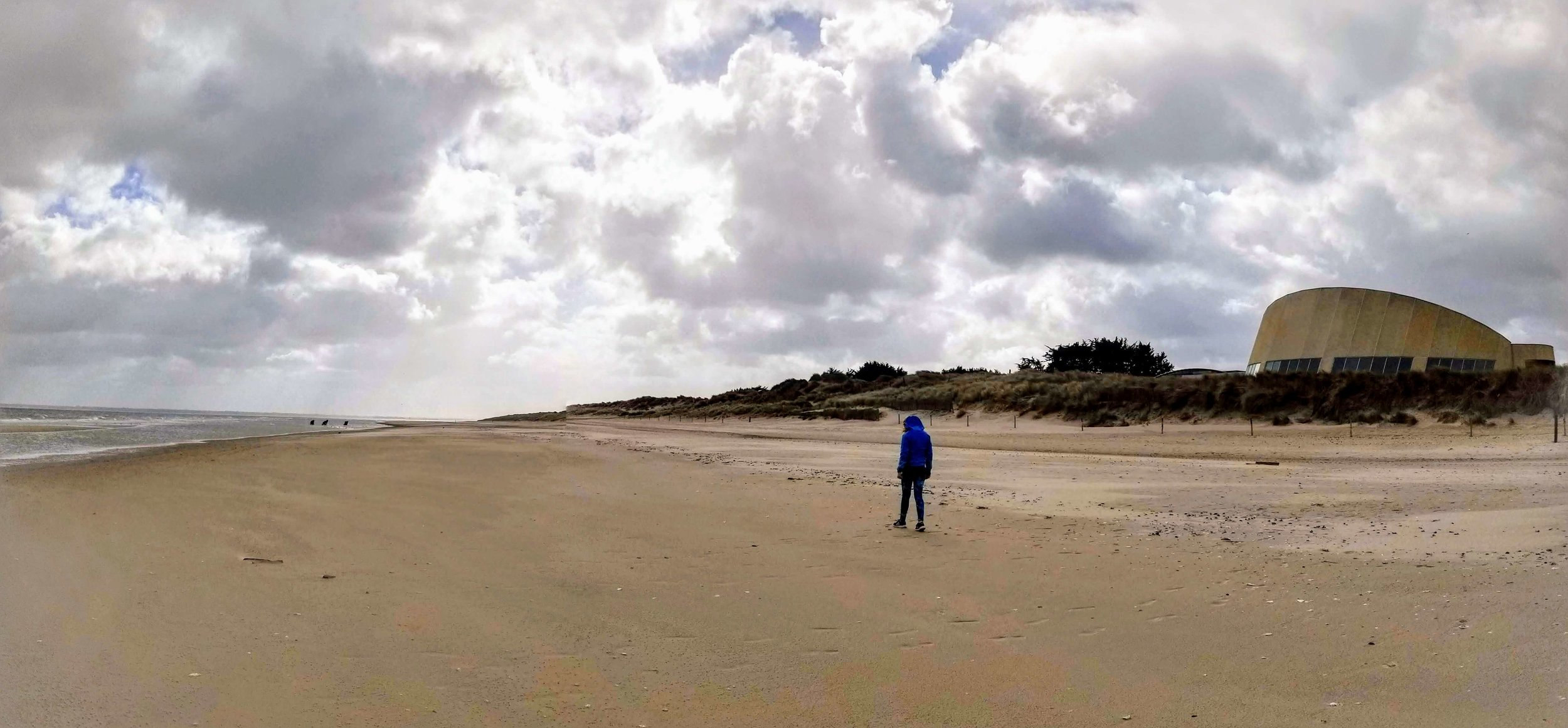 Utah Beach on a March day. Deserted and beautiful.