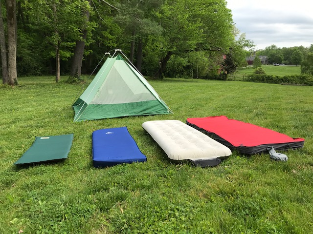 The evolution of my camping mats