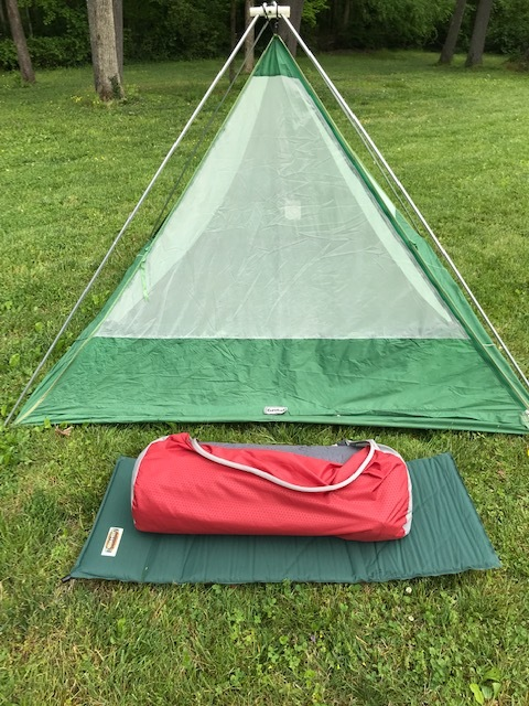 The Exped's large carry bag as compared to the small size of the Thermarest. A trade off to be sure, but one worth making.