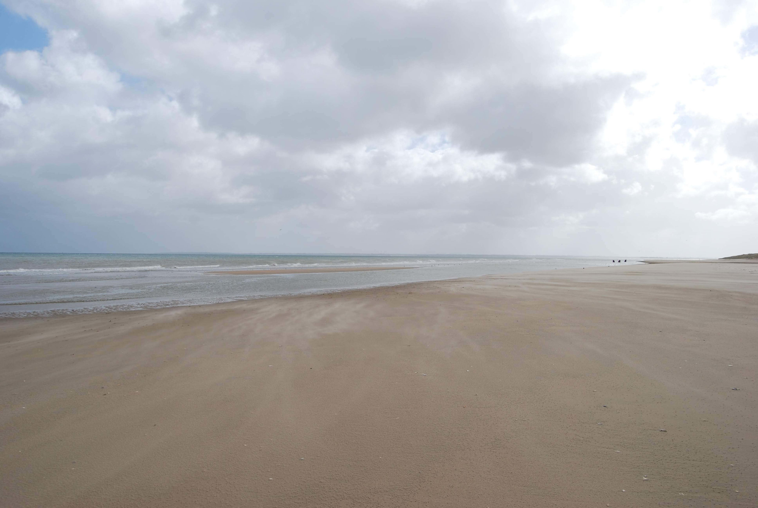 Utah Beach- peaceful and deserted in March