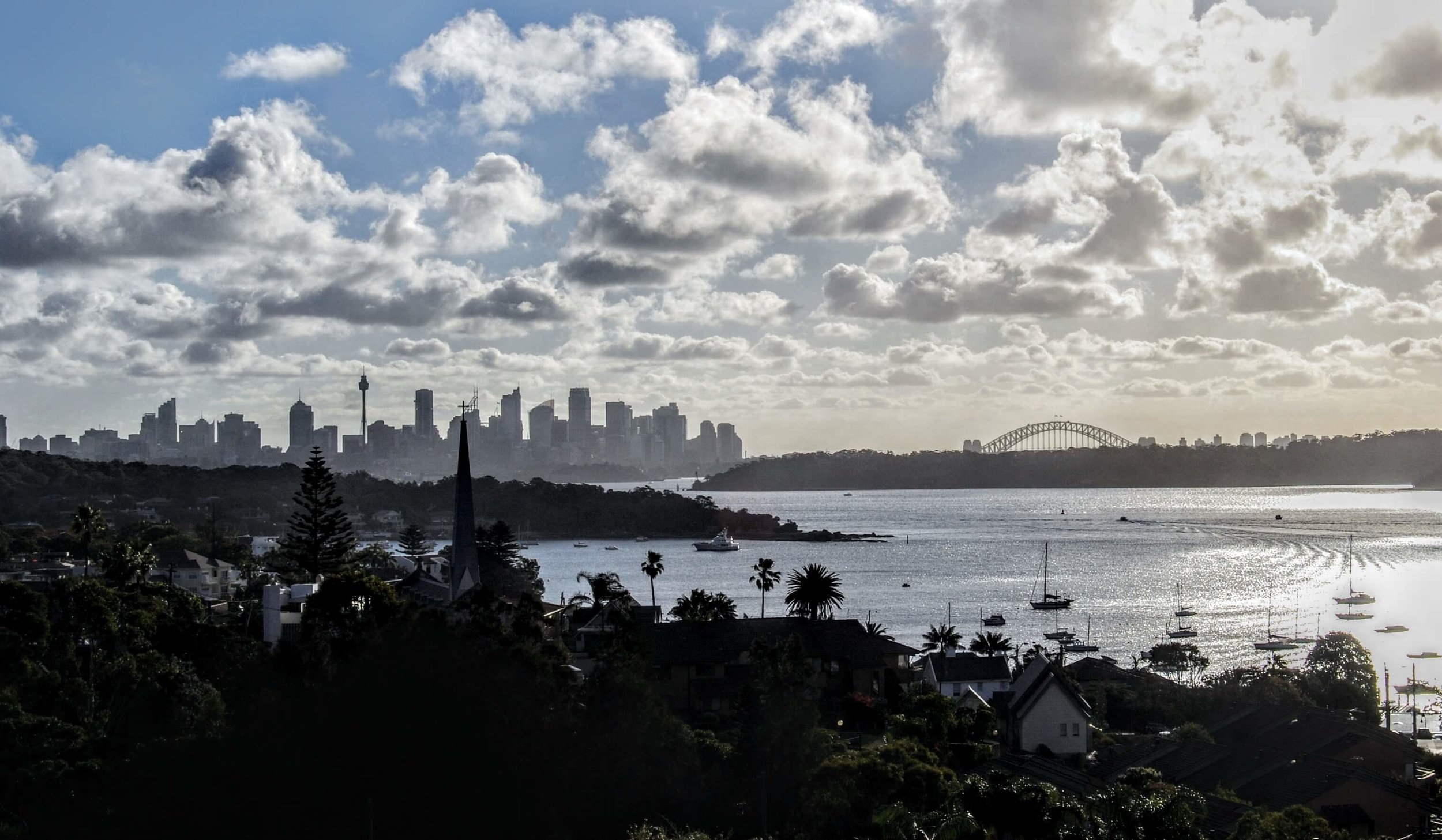 View from Gap Park overlooking Watsons Bay and Sydney Harbour