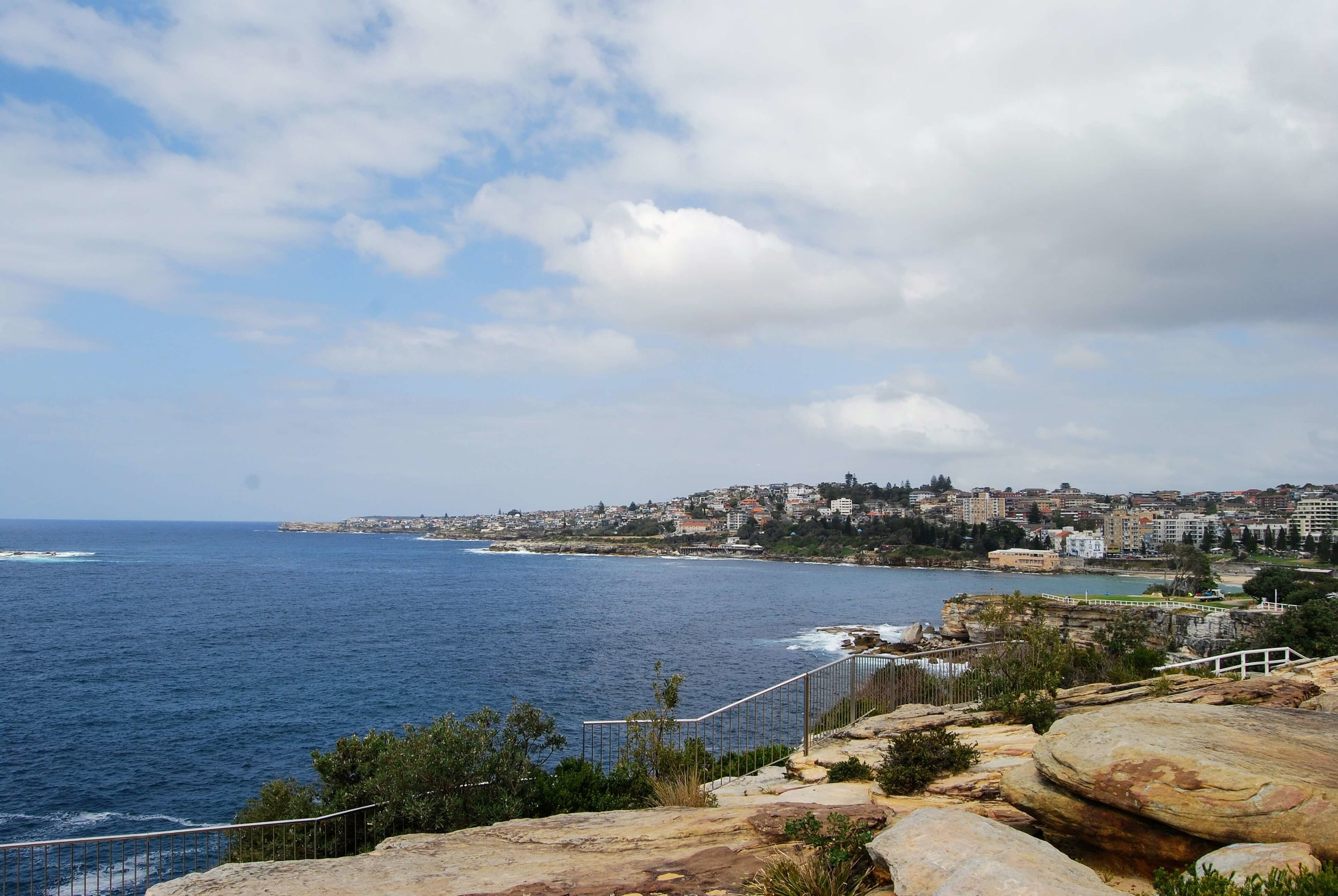 View from Dunningham Reserve looking back to Coogee.