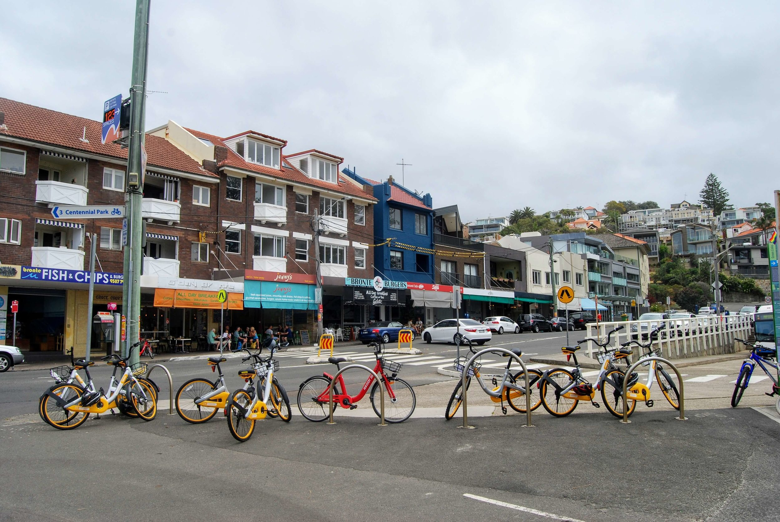 Cafes along Bronte Beach