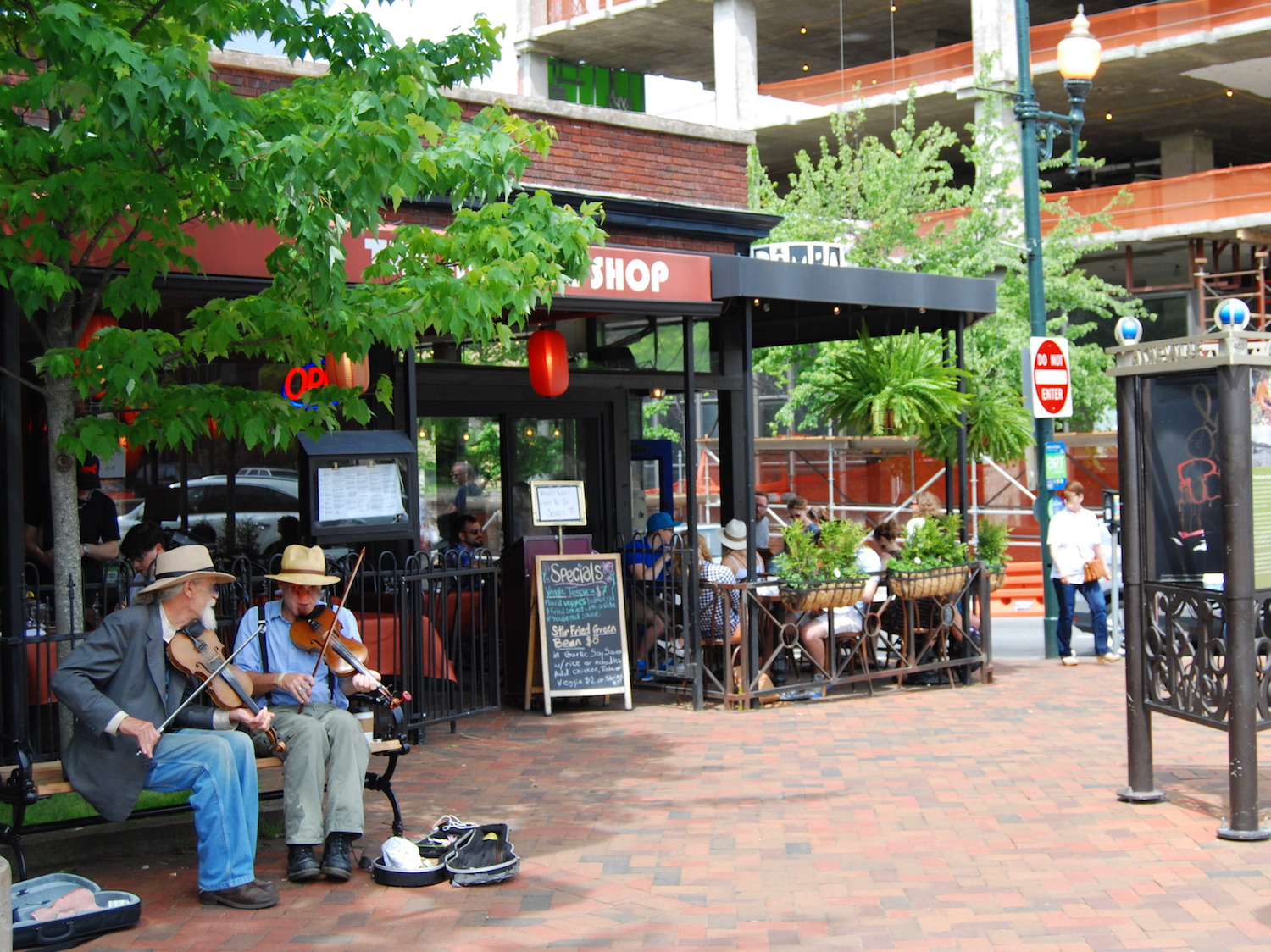 Musicians in Downtown Asheville