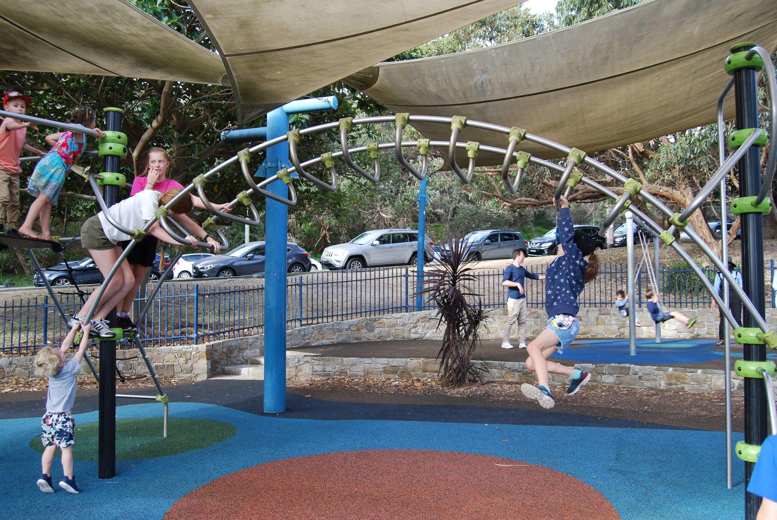Monkey bars in Robertson Park