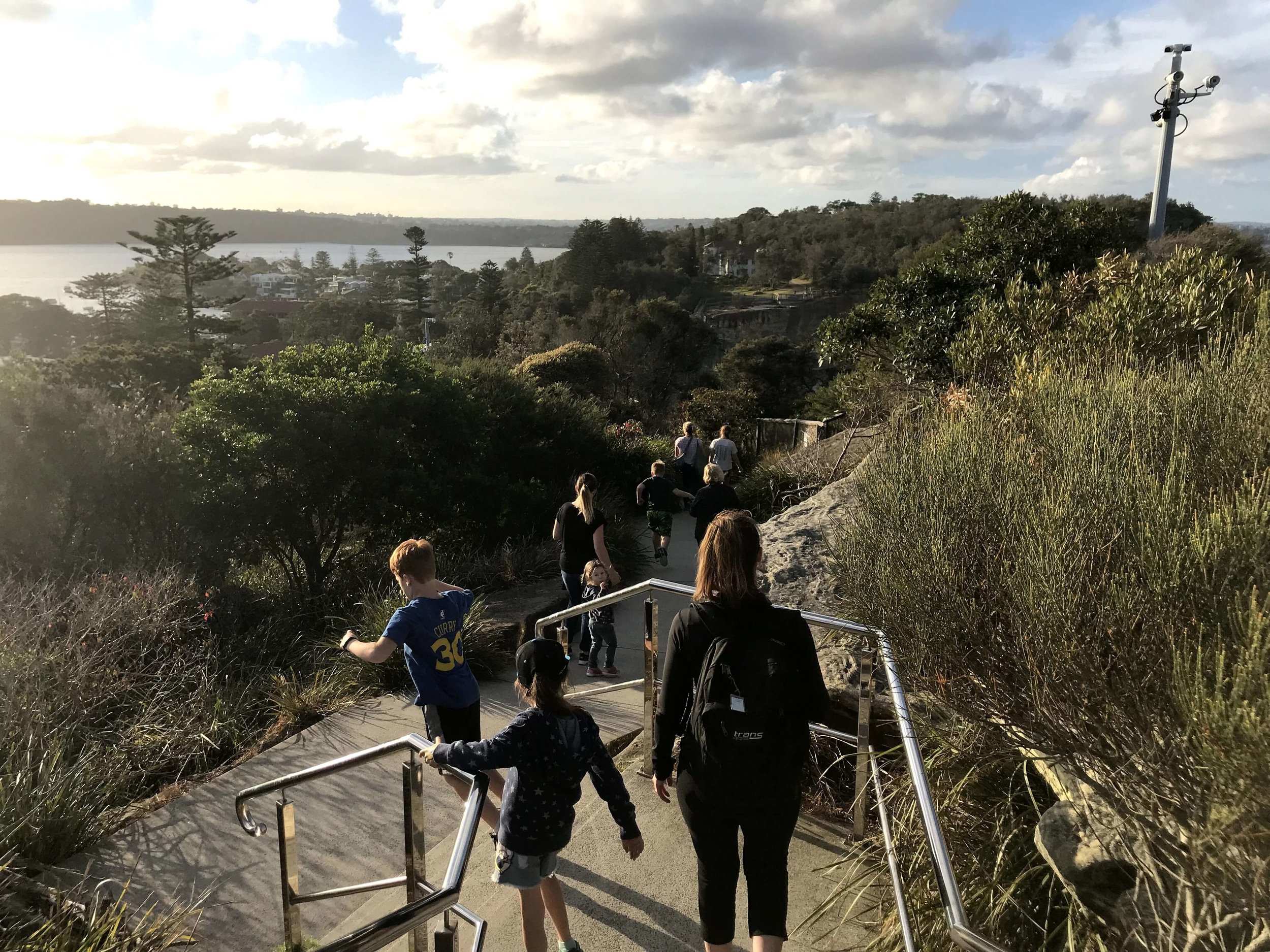 The stairs on the way back from Macquarie Lighthouse