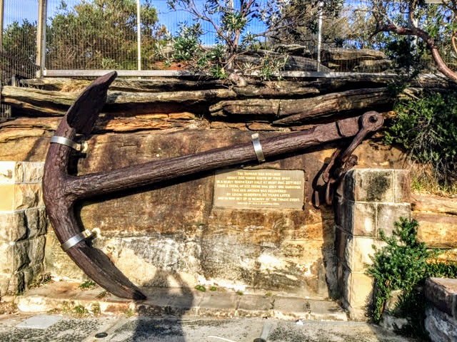 The anchor from the Wreck of the Dunbar