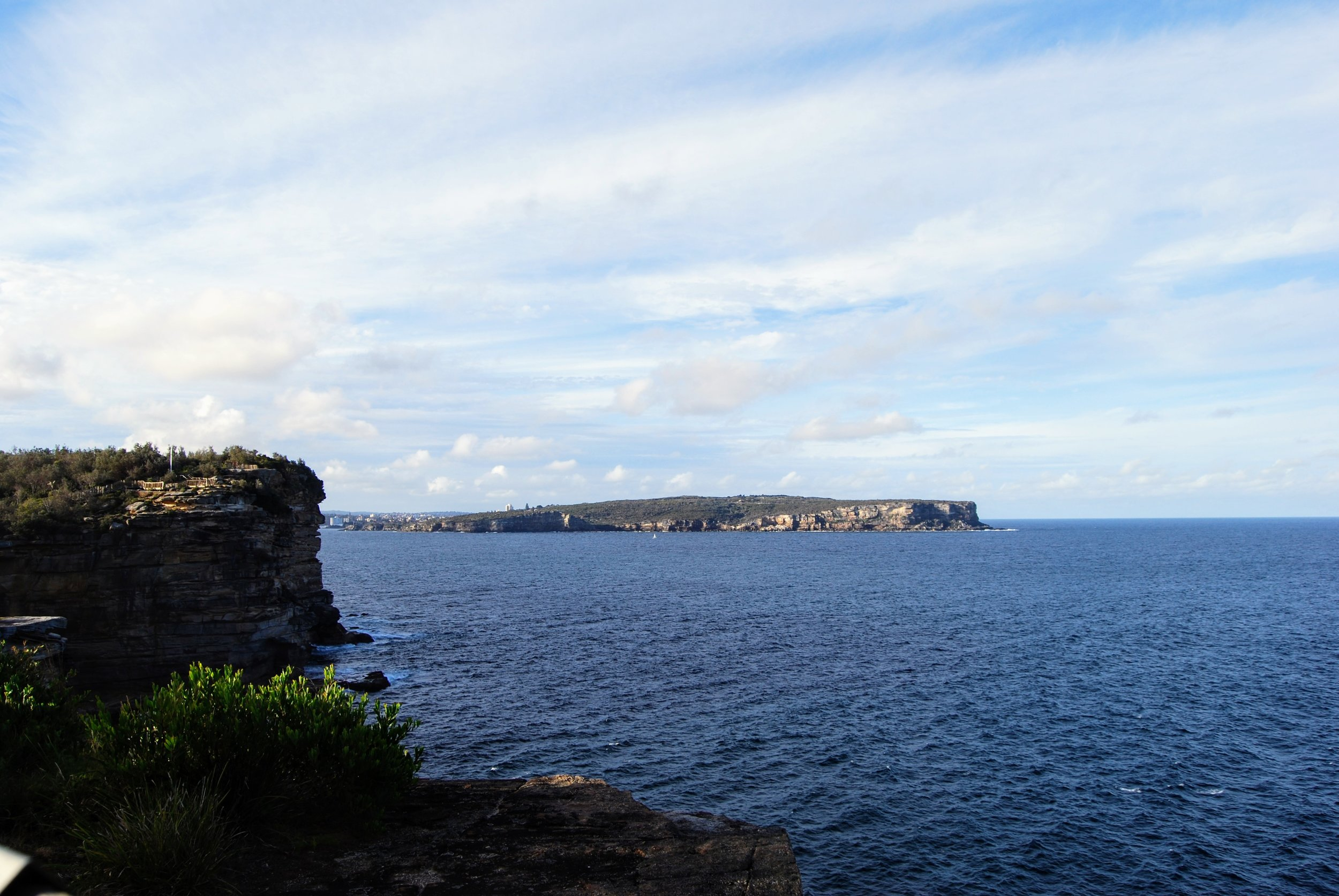 Looking across to North Head