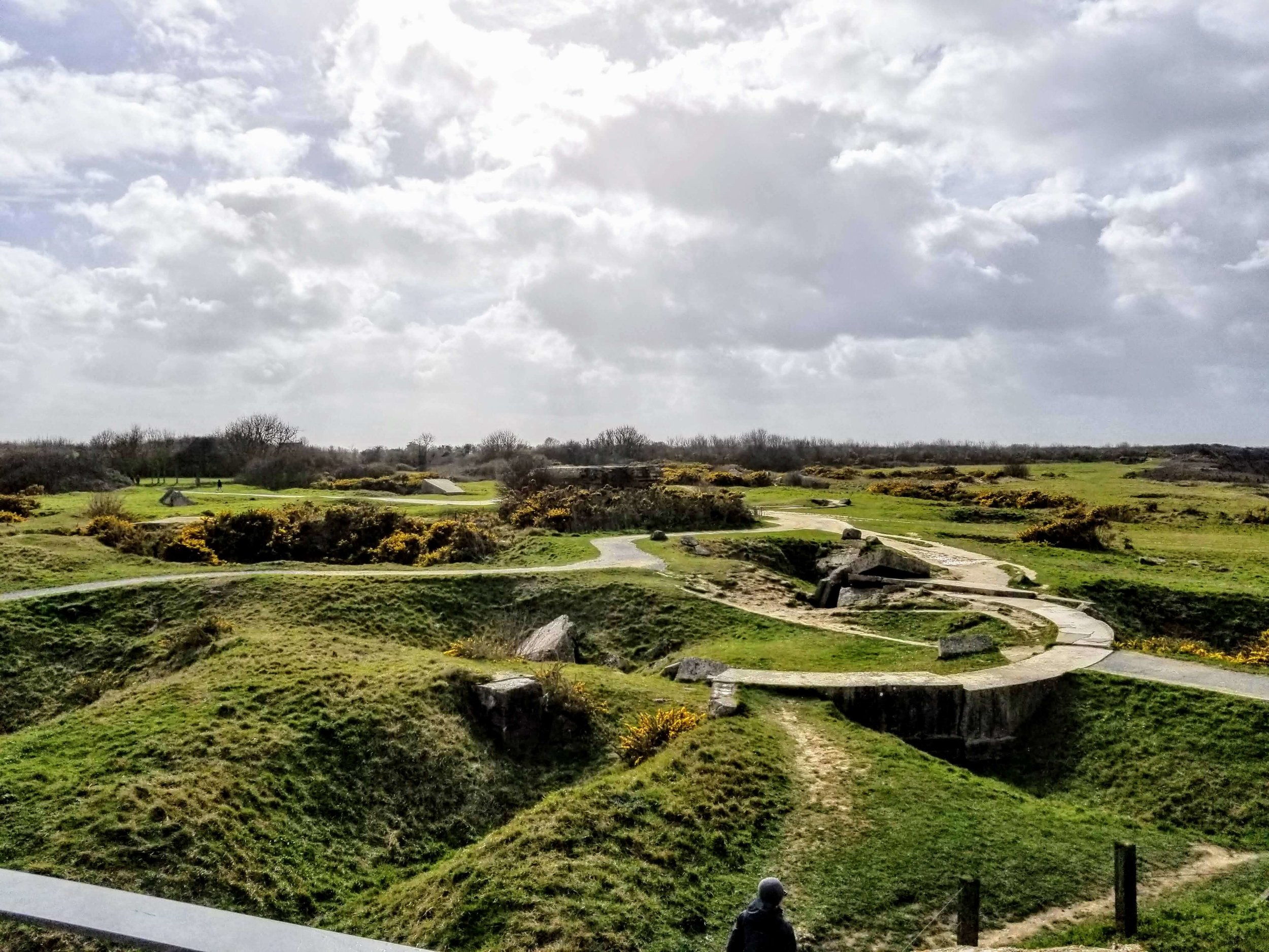The multiple craters of Pointe du Hoc