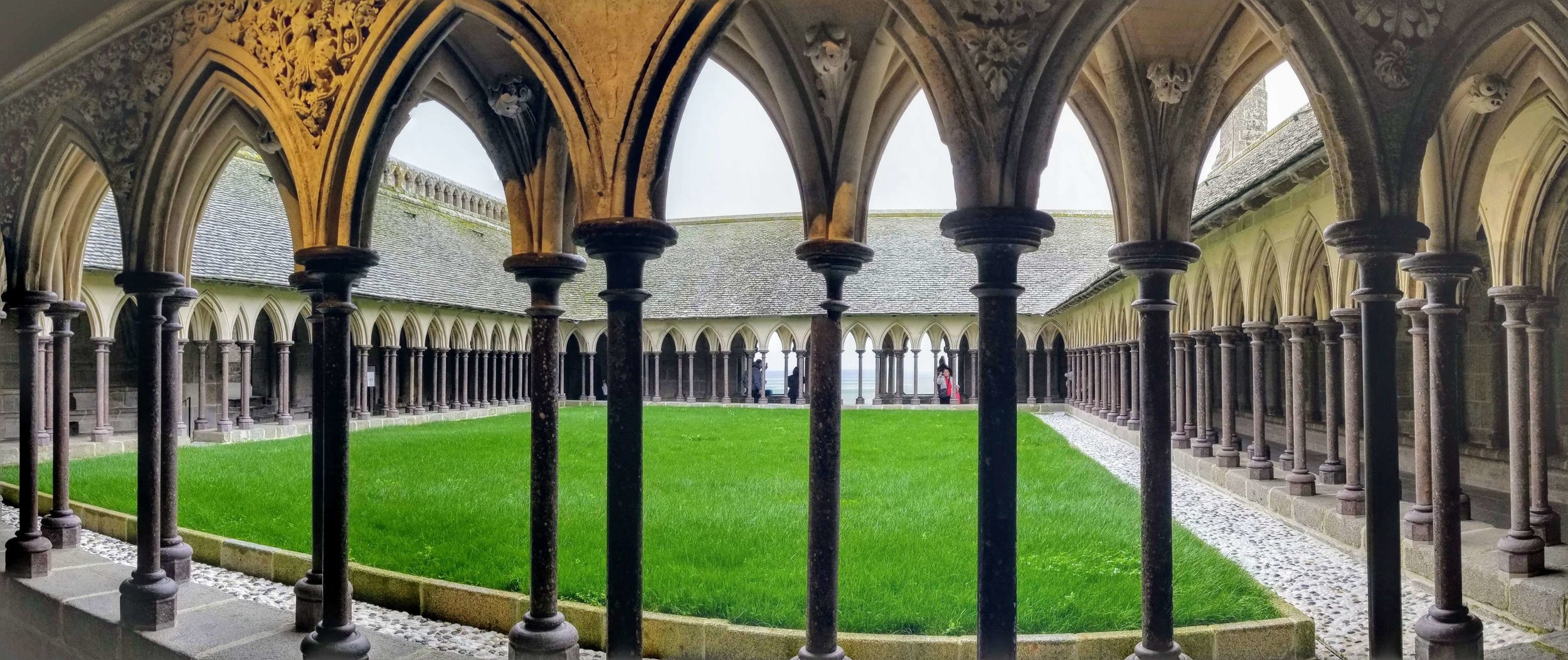 Courtyard inside the Abbey of Mont St. Michel
