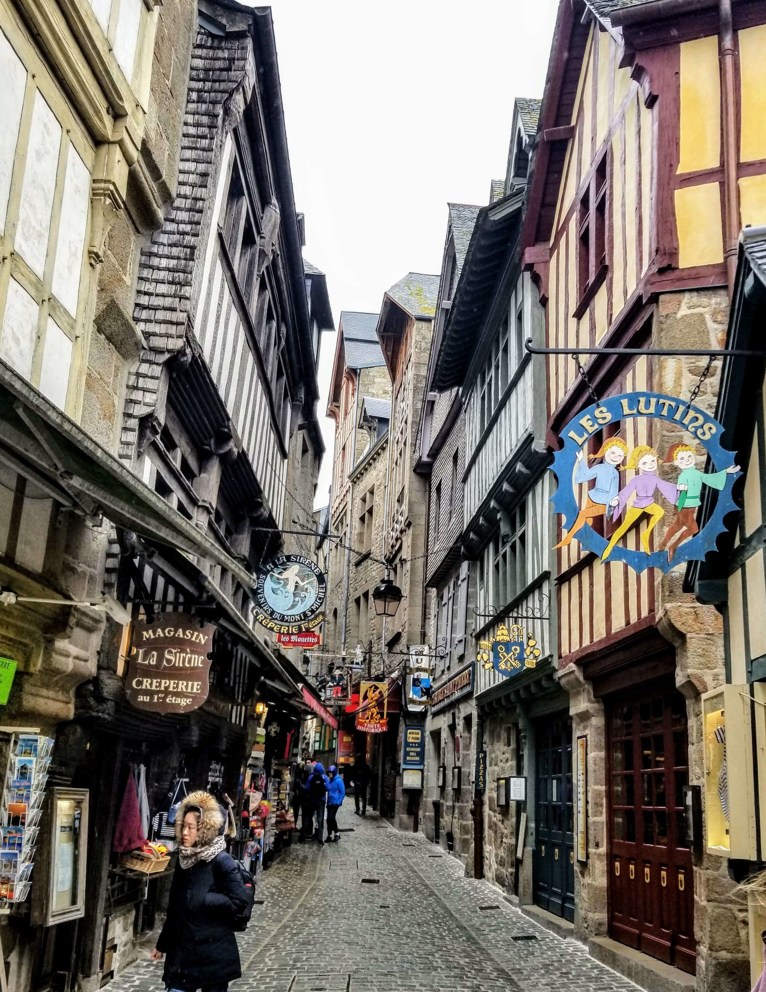 Streets of Mont Saint Michel