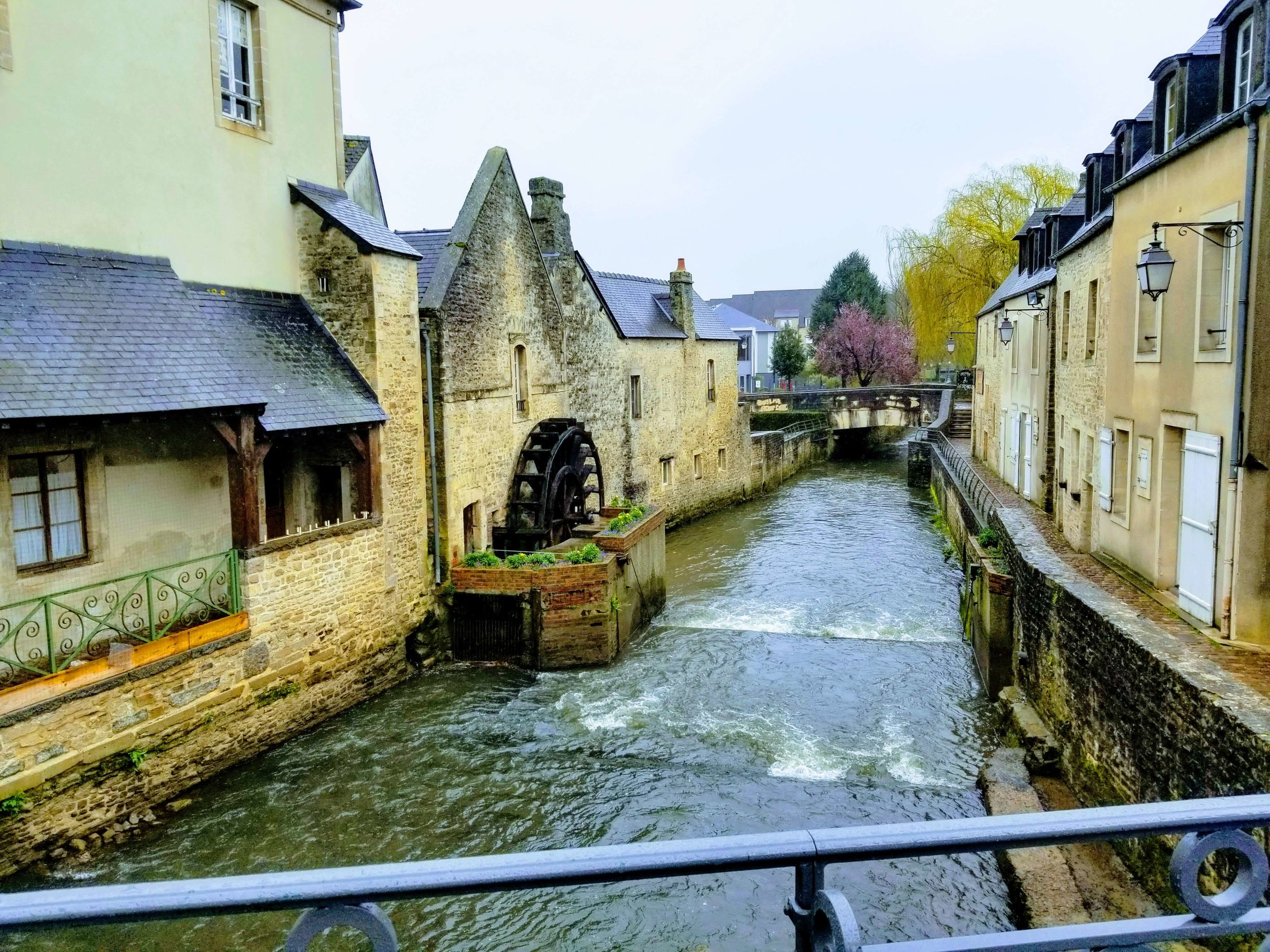 Picturesque canal through Bayeux