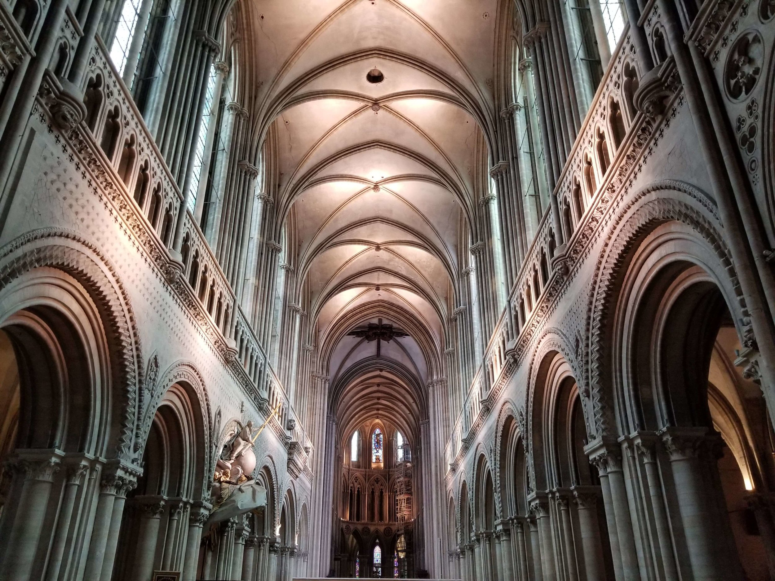 Inside Bayeux's beautiful cathedral