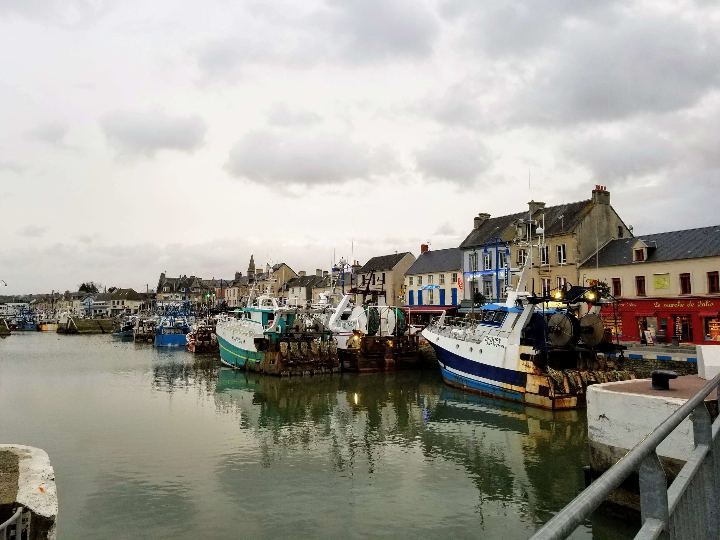 Lots of fishing boats in Port en Bessin