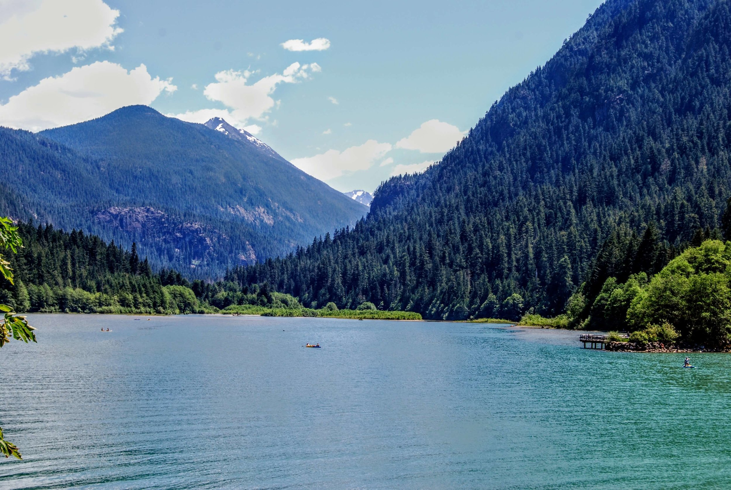 The view of Diablo Lake from Colonial Creek Campground- not bad eh?
