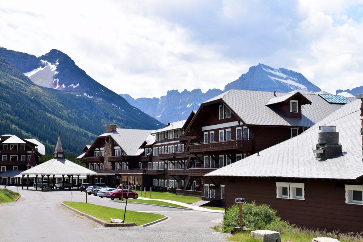 The historic Many Glacier Hotel