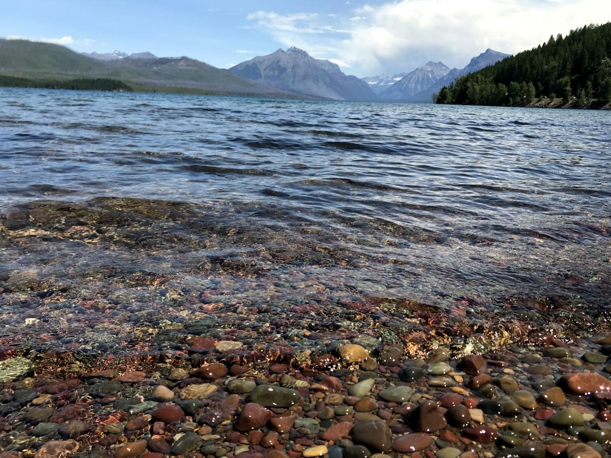 Lake McDonald- View from the picnic area in Apgar Village