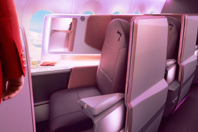 Virgin Atlantic's new A350 cabin interior featuring our Sirocco