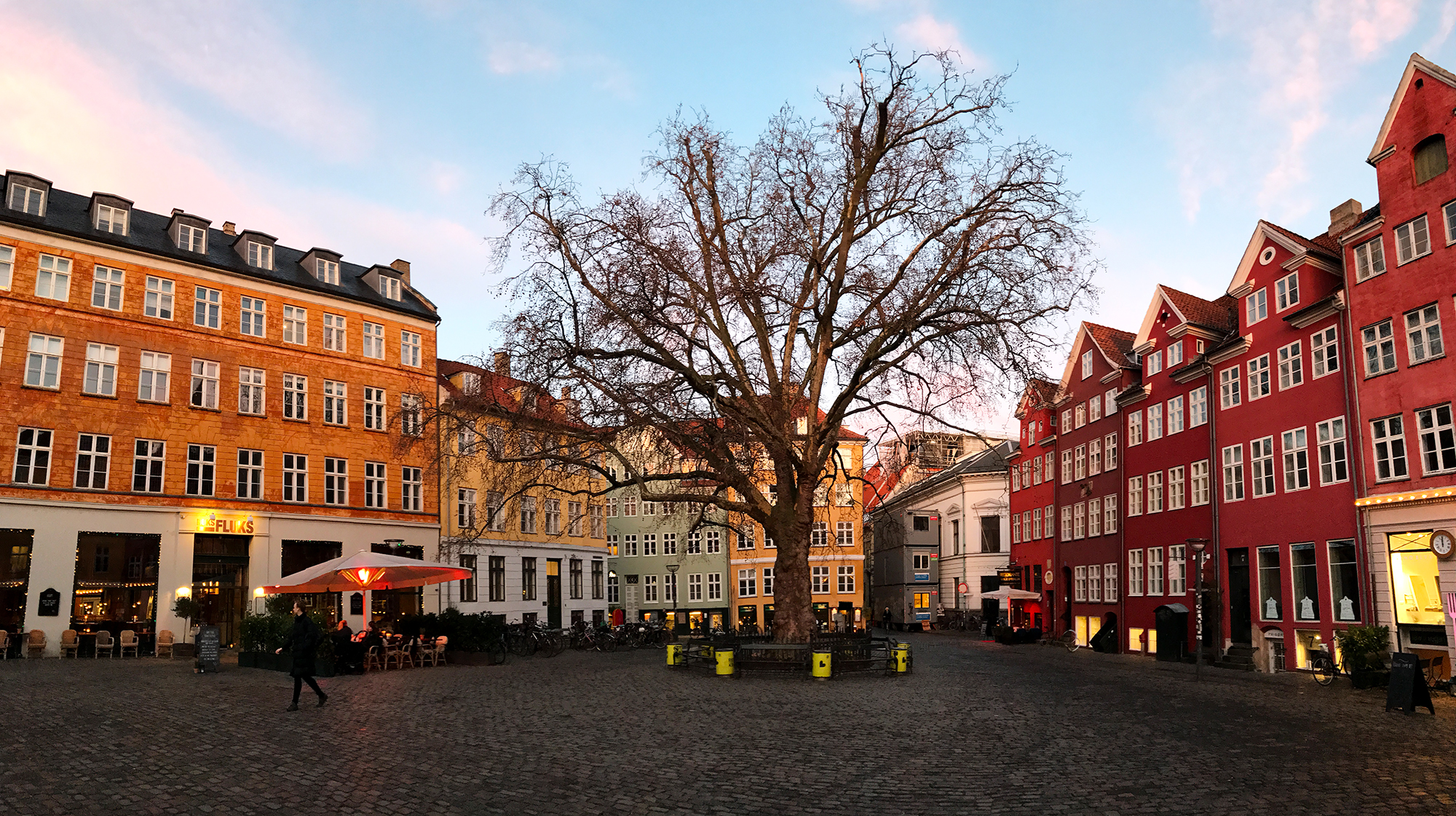 Nice cozy Danish Square in Copenhagen, Denmark.