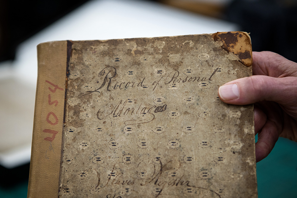 The oldest NYC records of personal mortgages which is stored inside of a safe at the Municipal Archives building.