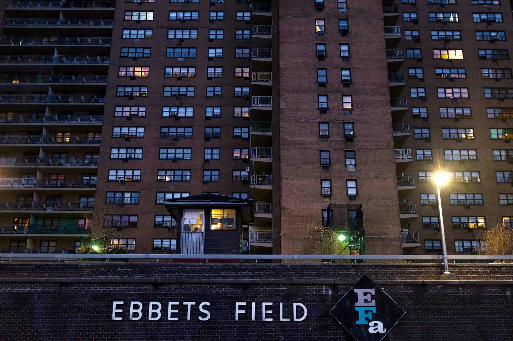 Named after the former site of the Brooklyn Dodgers' baseball stadium, today Ebbets Fields is home to hundreds of lower-income African-American and immigrant families.
