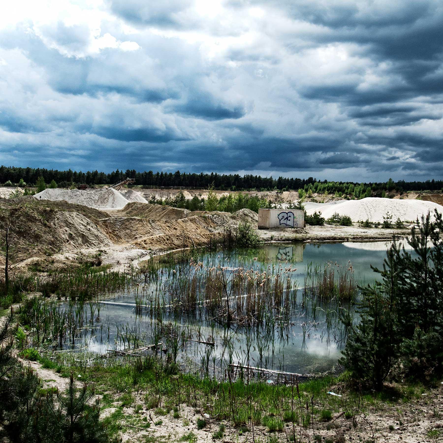 Abandoned mining quarry.