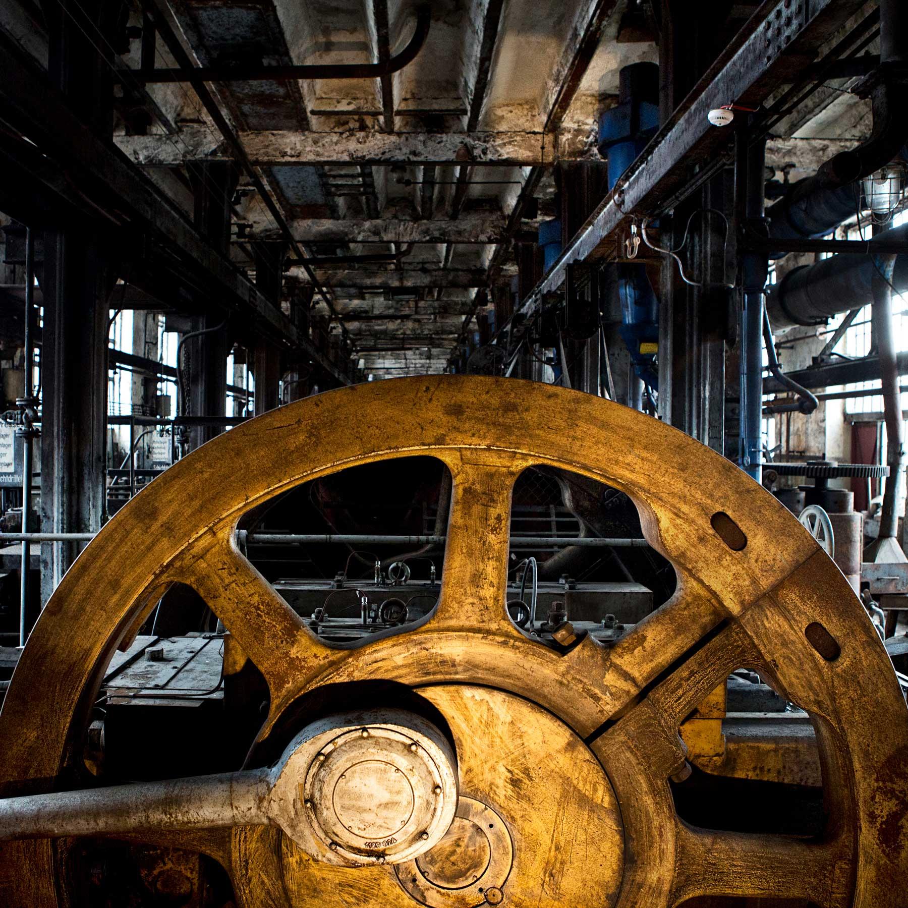 Closed brown coal mine.