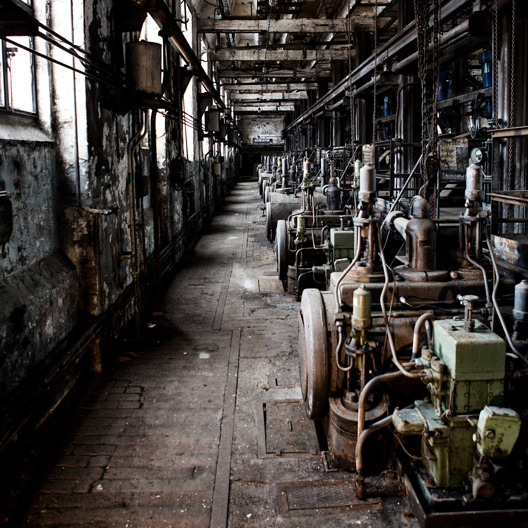 Inside of the old brown coal factory.