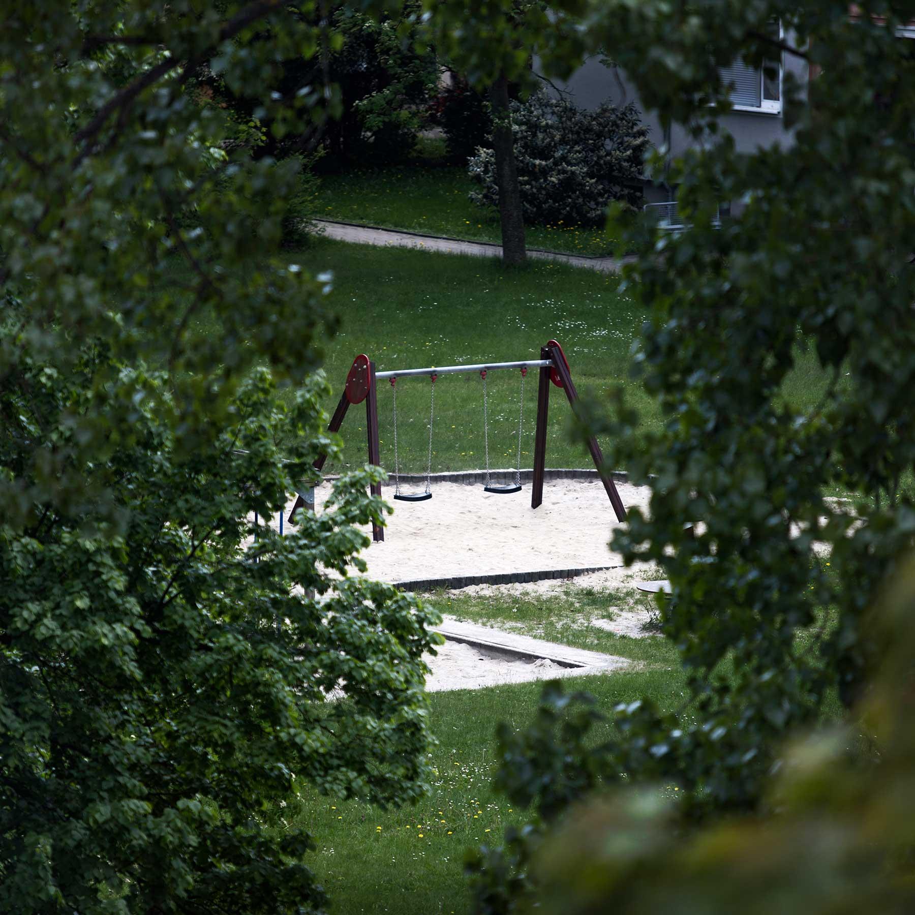 Empty neighborhood playground.