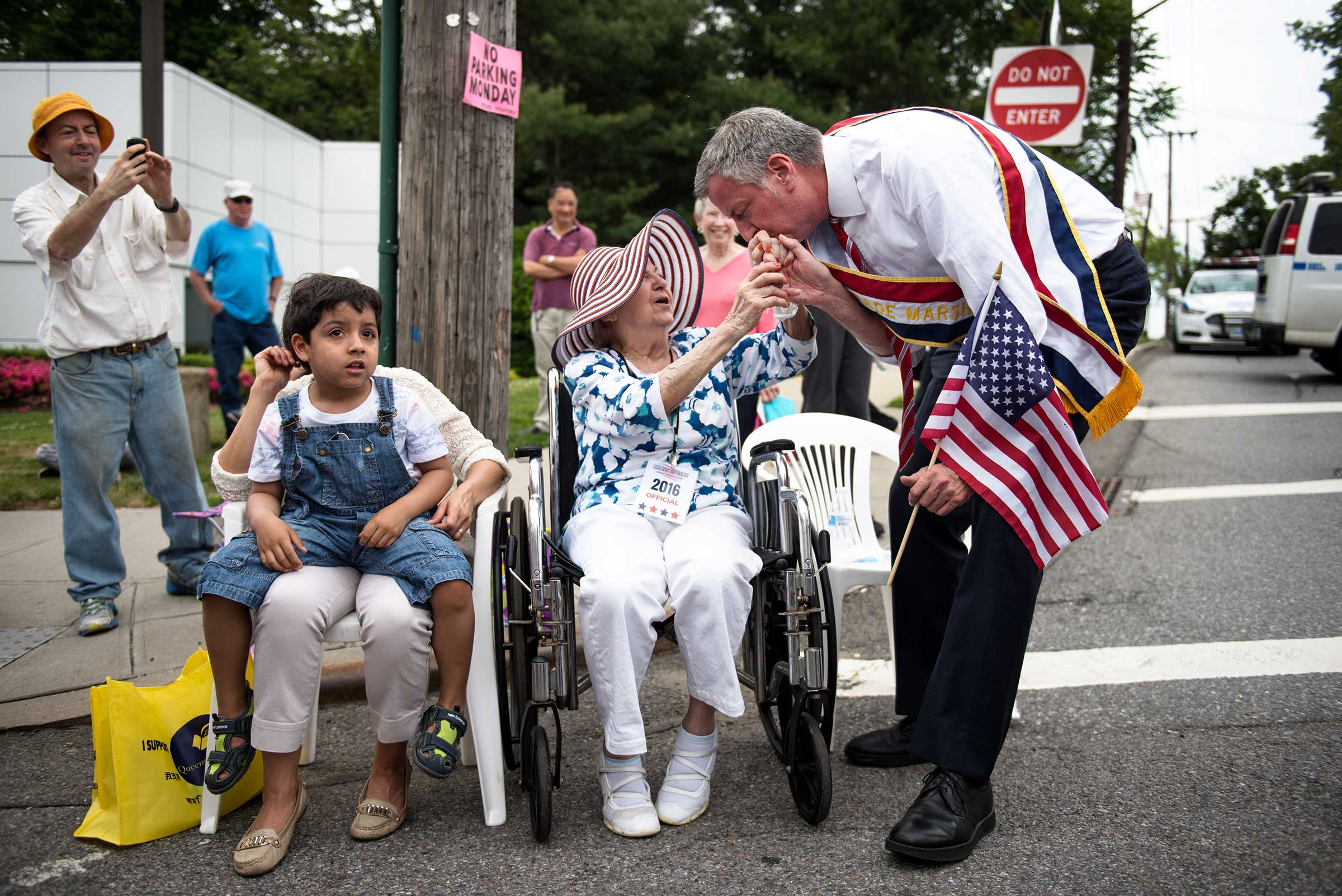 Little Neck Memorial Day Parade in Queens, New York.