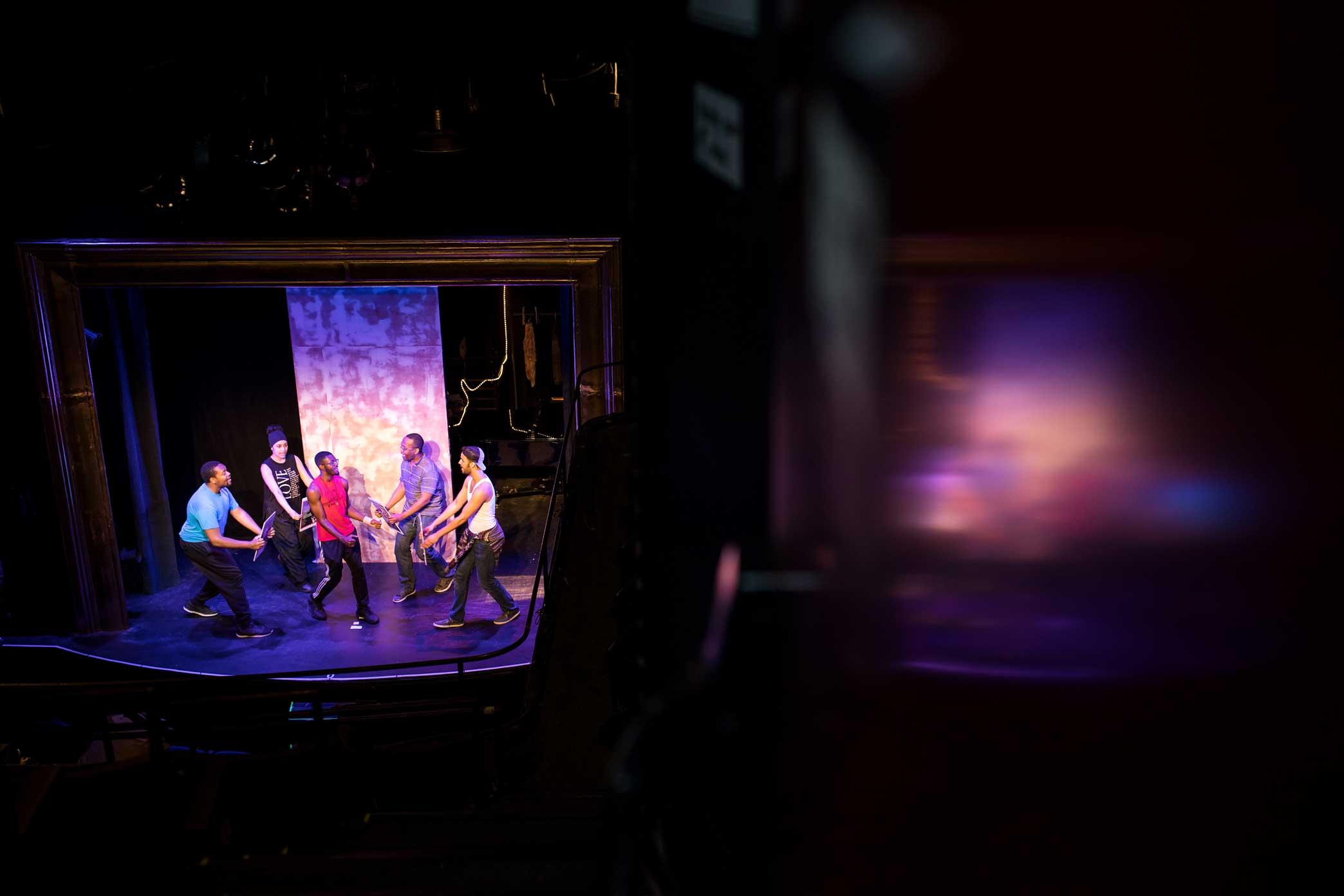 """Rehearsal of """"Spamilton."""""""