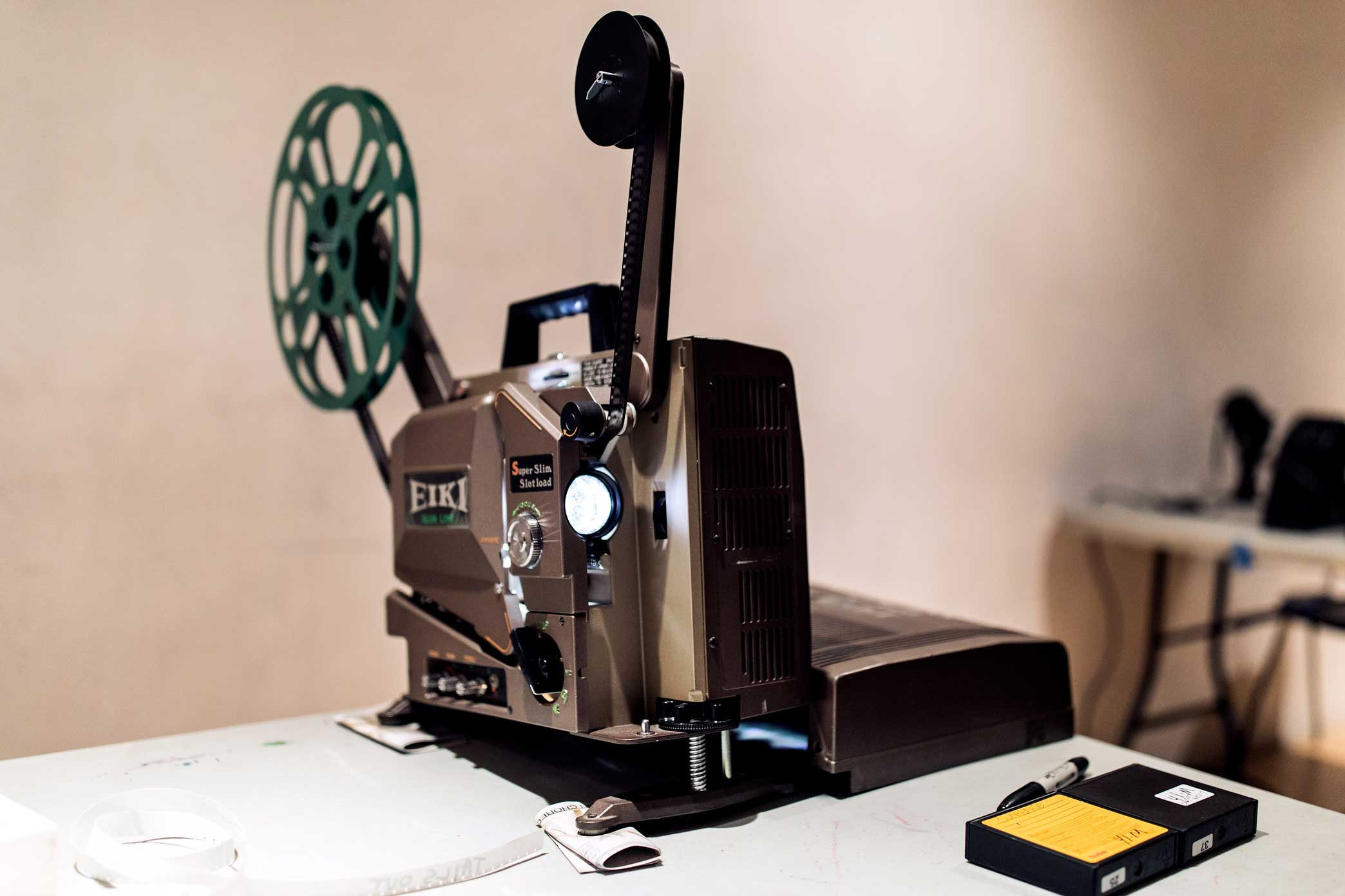 Eiki film projector at the Mono No Aware workshop space in Brooklyn.