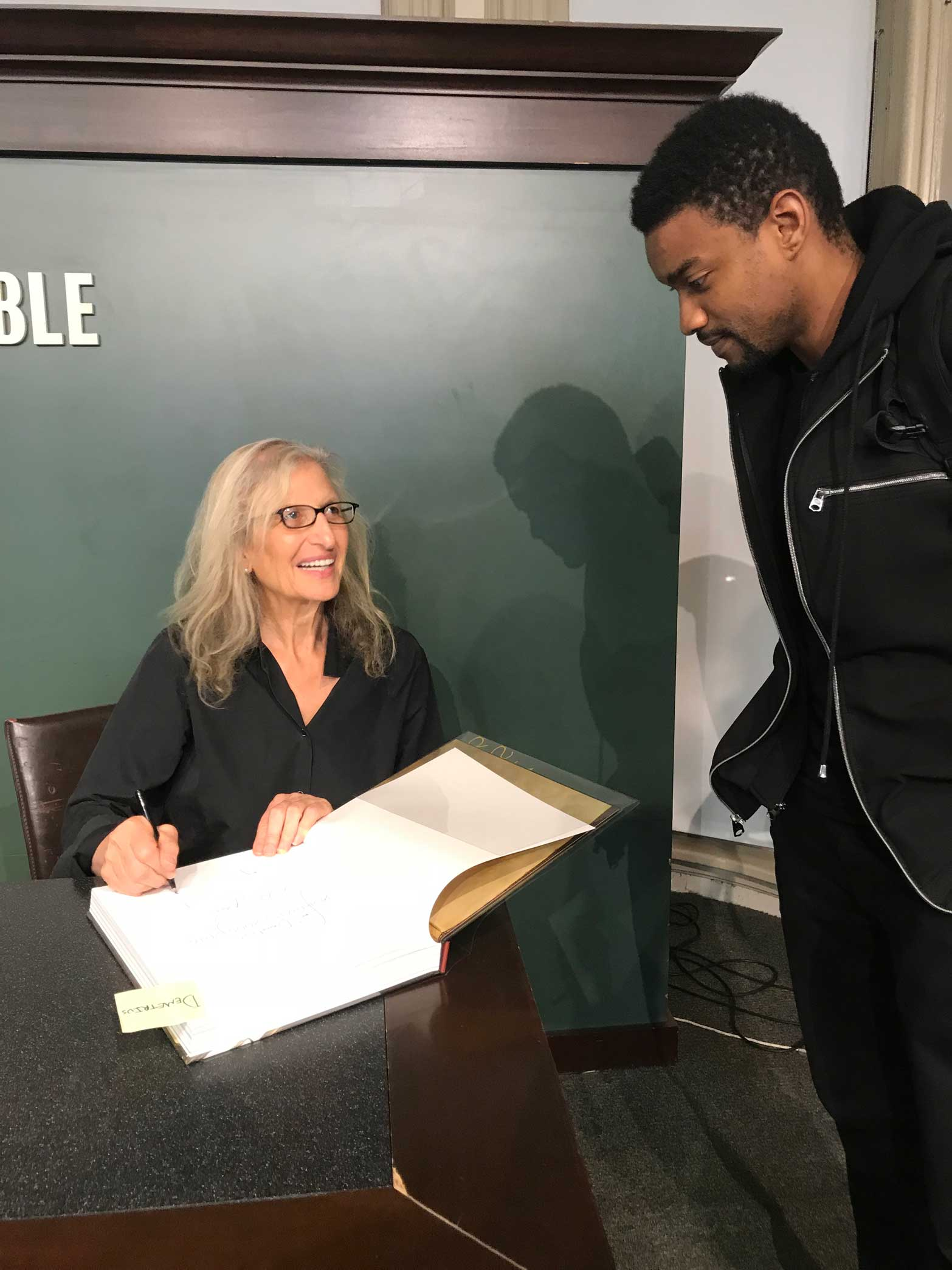Annie Leibovitz and me being awestruck by her. New York City, NY.