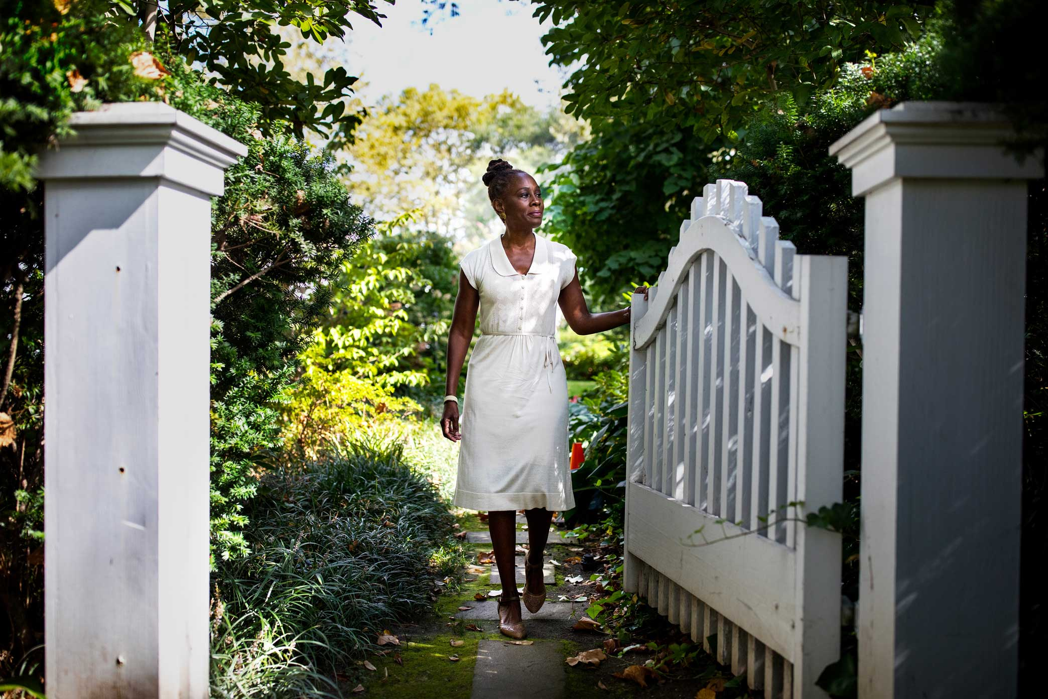 Chirlane McCray in the backyard of Gracie Mansion; she has taken on a far more expansive role in guiding city government than previous first ladies of New York.  Story Link  here .