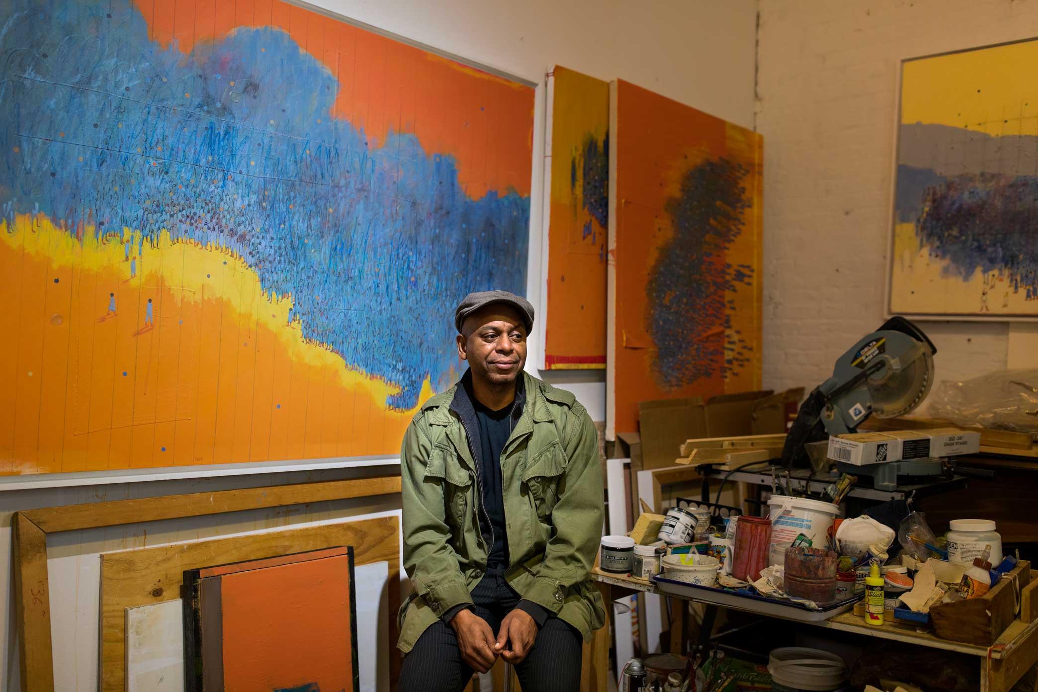 Artist Francks Francois Décéus. Brooklyn, New York.