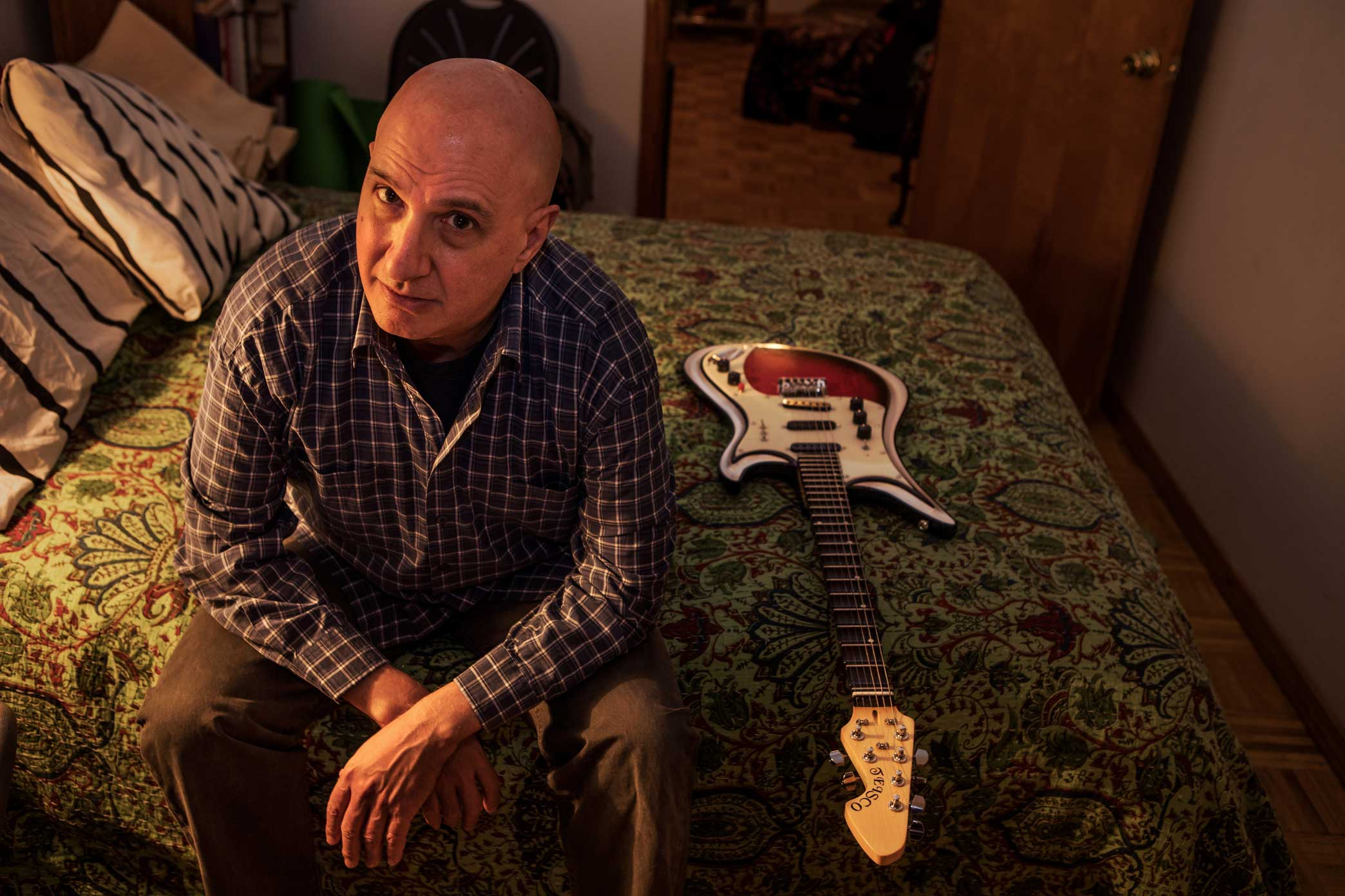 David First, in his Brooklyn apartment, led the noise-rock band the Notekillers, who played the New York music scene in the late 1970s and early '80s.  Part of The New York Times Story:   'Revival for the Notekillers'