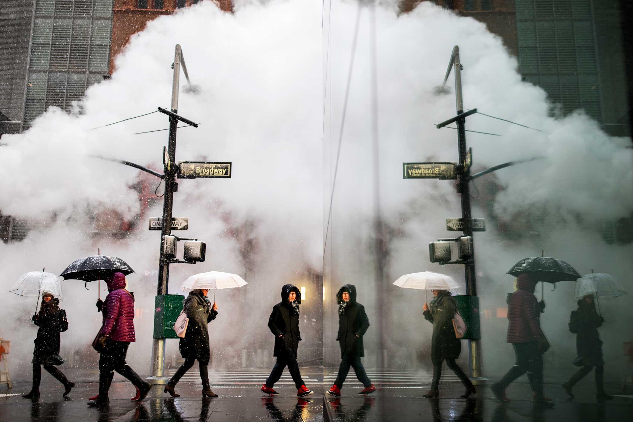 Broadway Reflection. Manhattan,New York. 2017
