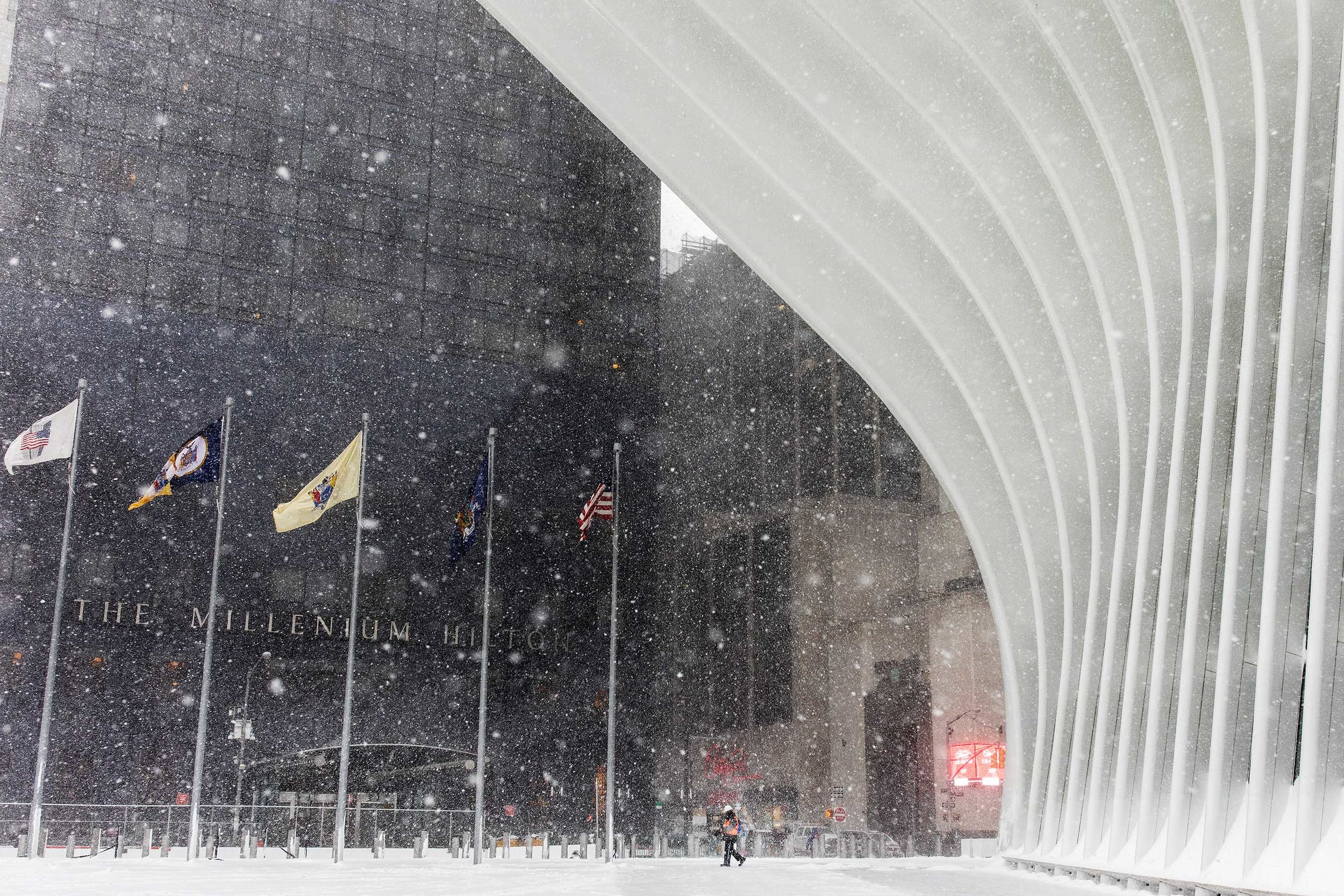 Oculus. NYC Snow Storm. Manhattan, NY. 2018
