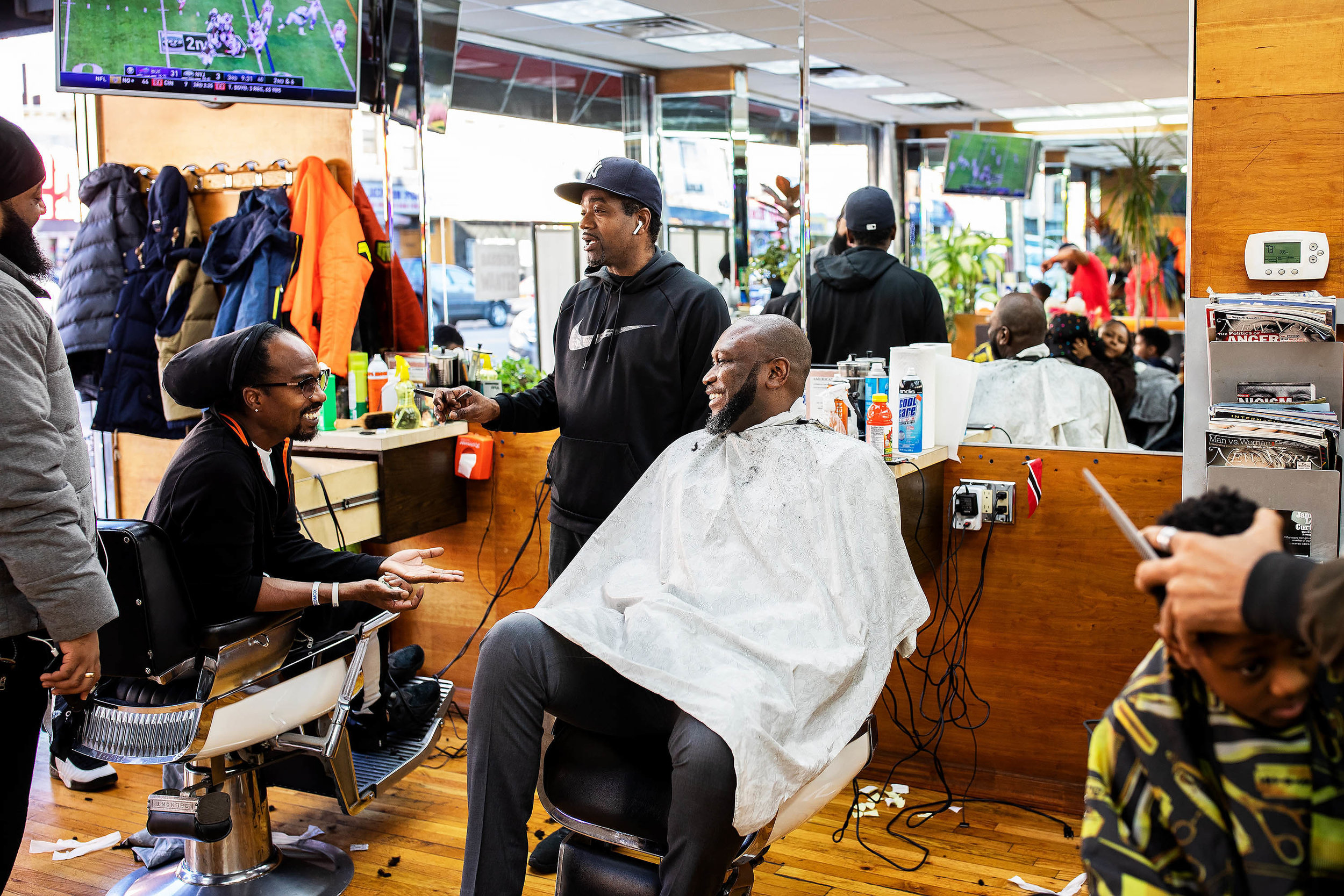 """""""If I want to check the pulse of how we're doing as a government, the barbershop is my best source. I just sit down and listen to the conversation."""""""