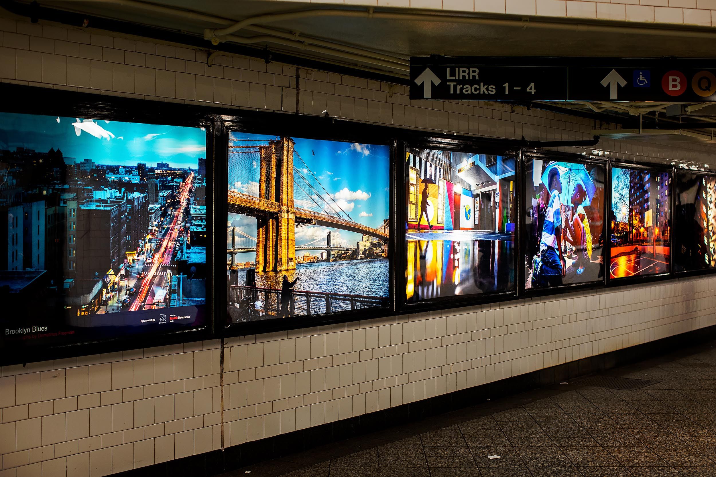 "Freeman collaborated with MTA Arts & Design to create a series of photographic moments that would captivate commuters while passing through the Atlantic Avenue - Barclays subway station. In speaking of the work, Freeman said, ""During my daily journeys around Brooklyn, I look at the people and places I encounter through the lens of a photojournalist. I am constantly seeking to capture untold stories, beautiful scenes and unique moments that I hope show a unique view of Brooklyn."" Freeman is originally from Atlanta, GA, Studied Photojournalism and Political Science at Western Kentucky University and is a Brooklyn resident. He is a freelance photographer for The New York Times."