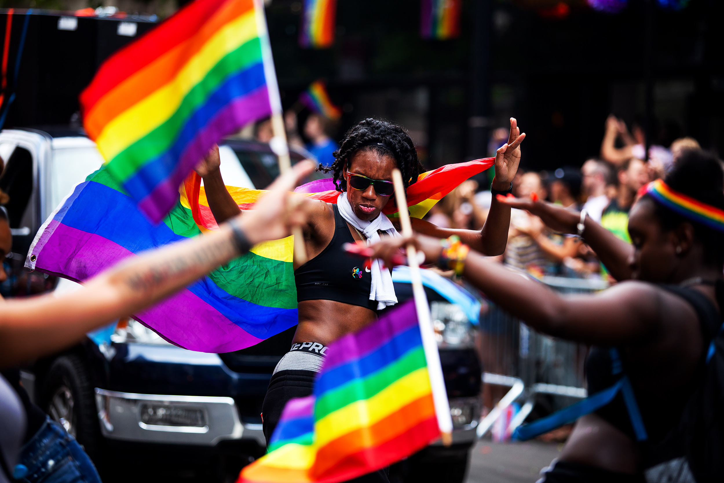 Thousands danced and marched in New York's 49th annual gay pride parade in Manhattan, New York June 24, 2018. The first Pride March in 1970 was a civil rights protest in defense of sexual freedom. Over the years, folks identifying as gay, lesbian, bisexual, transgender, queer, intersexual, asexual, and their allies, have rallied to sustain the thriving community.