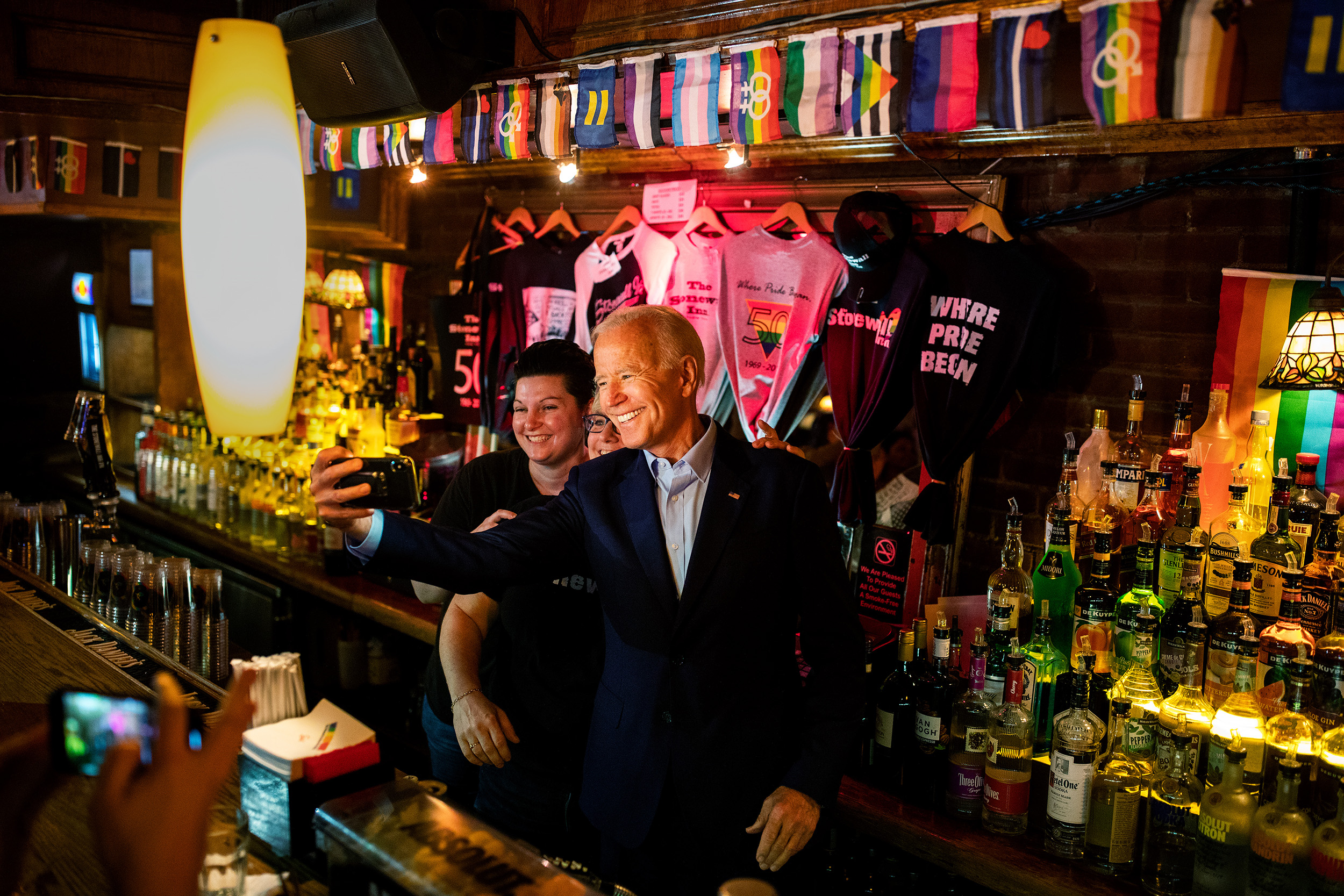 Democratic 2020 U.S. presidential candidate and former Vice President Joe Biden makes a stop at the Stonewall during his 2020 campaign in Manhattan, New York. The Stone Wall is a Gay bar & National Historic Landmark, site of the 1969 riots that launched the gay rights movement.