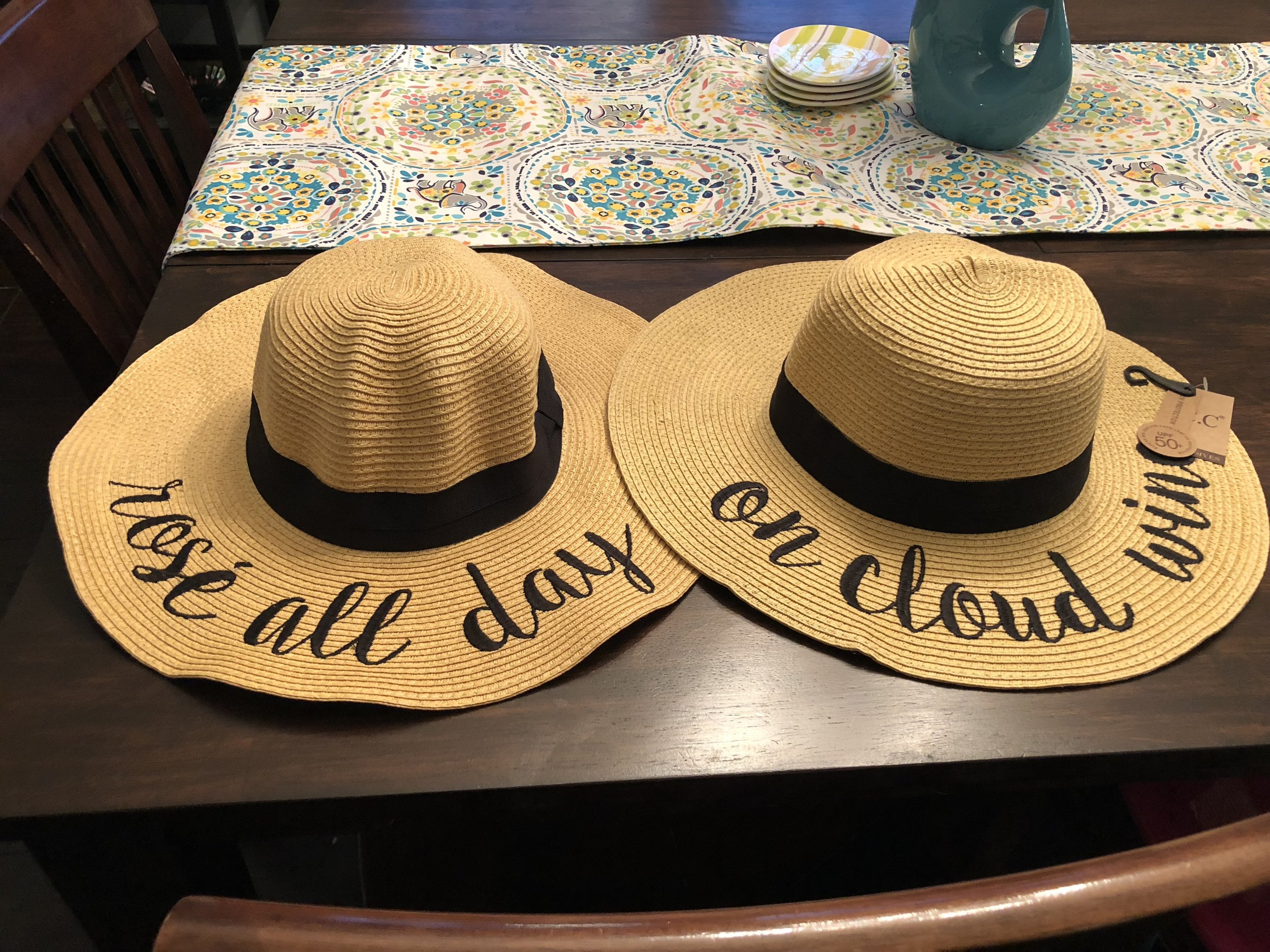 The perfect pool side hats for moms!