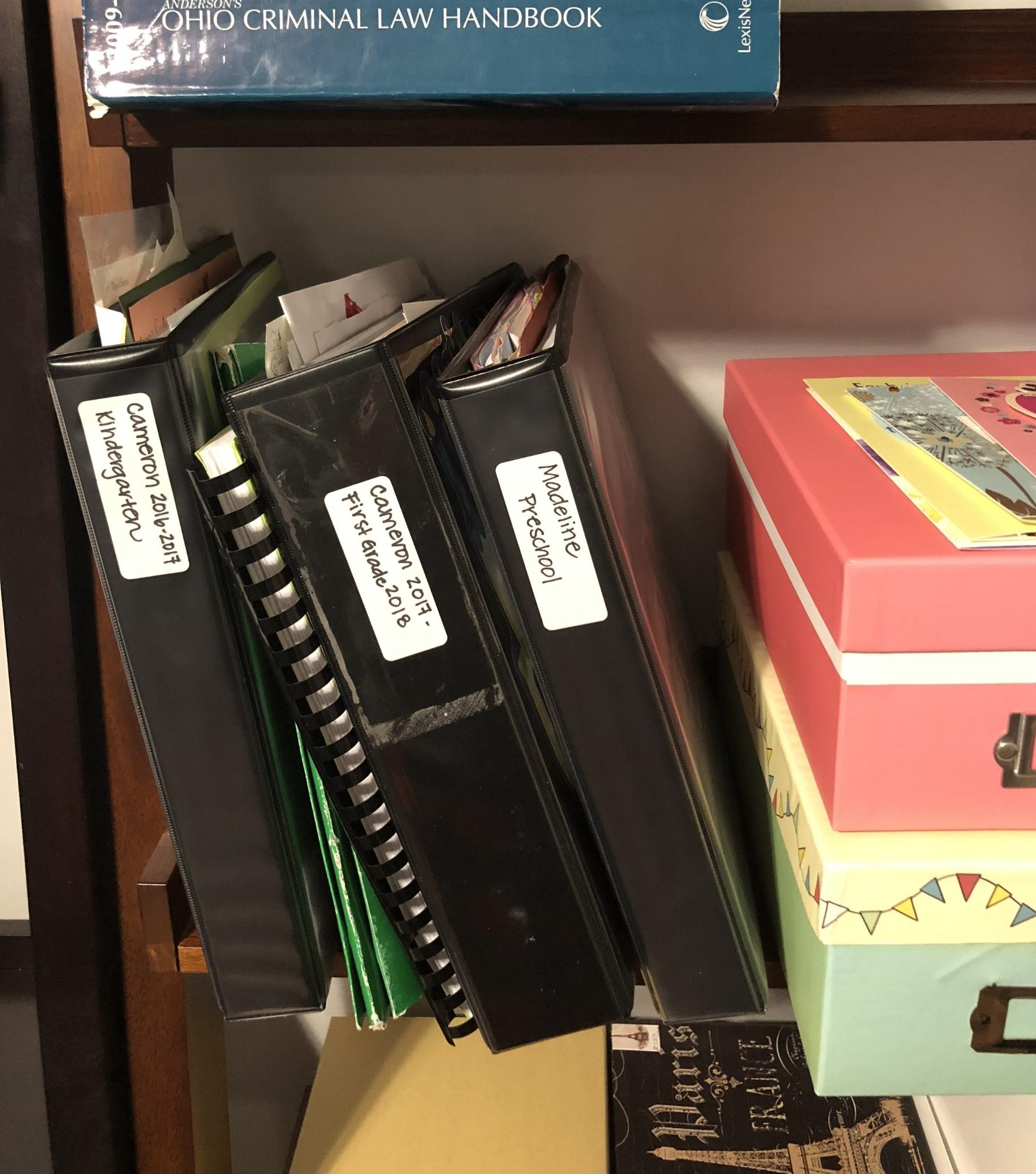 Regular binders for regular sized keepsakes