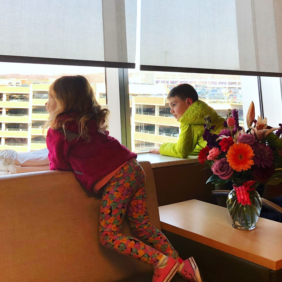 Kids visiting me in the hospital.