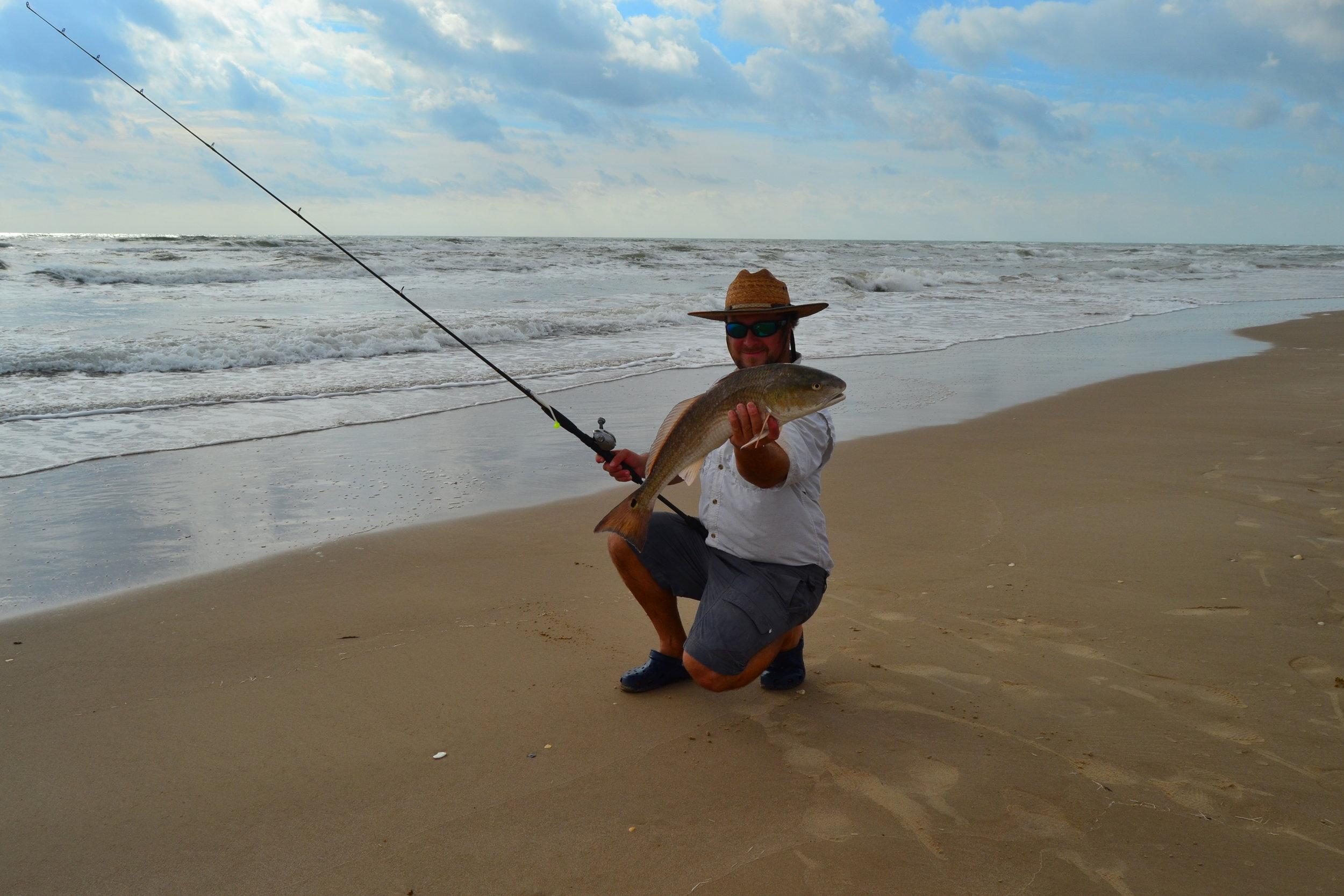 Redfish, early fall on plastics