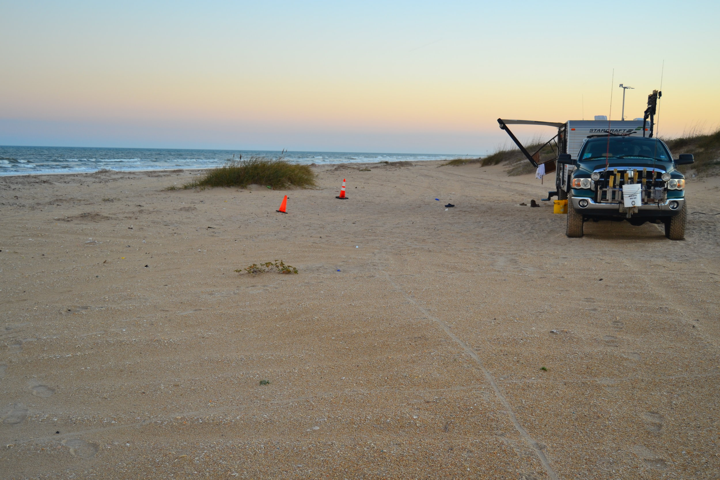 RV camping in the High Banks portion of South Beach