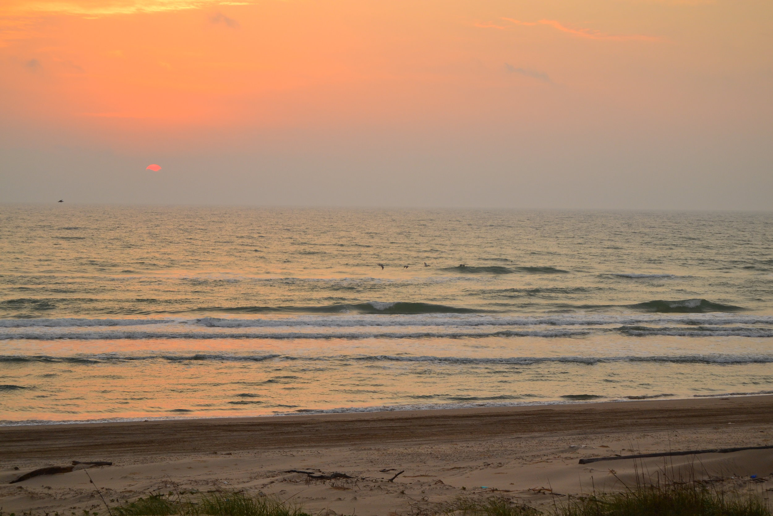 Sunrises are just part of the beauty of waking up on Padre.