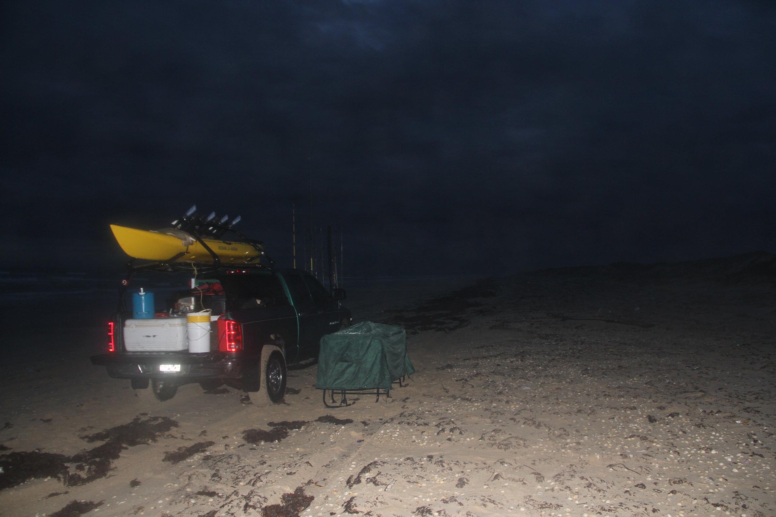 Rainy night in February